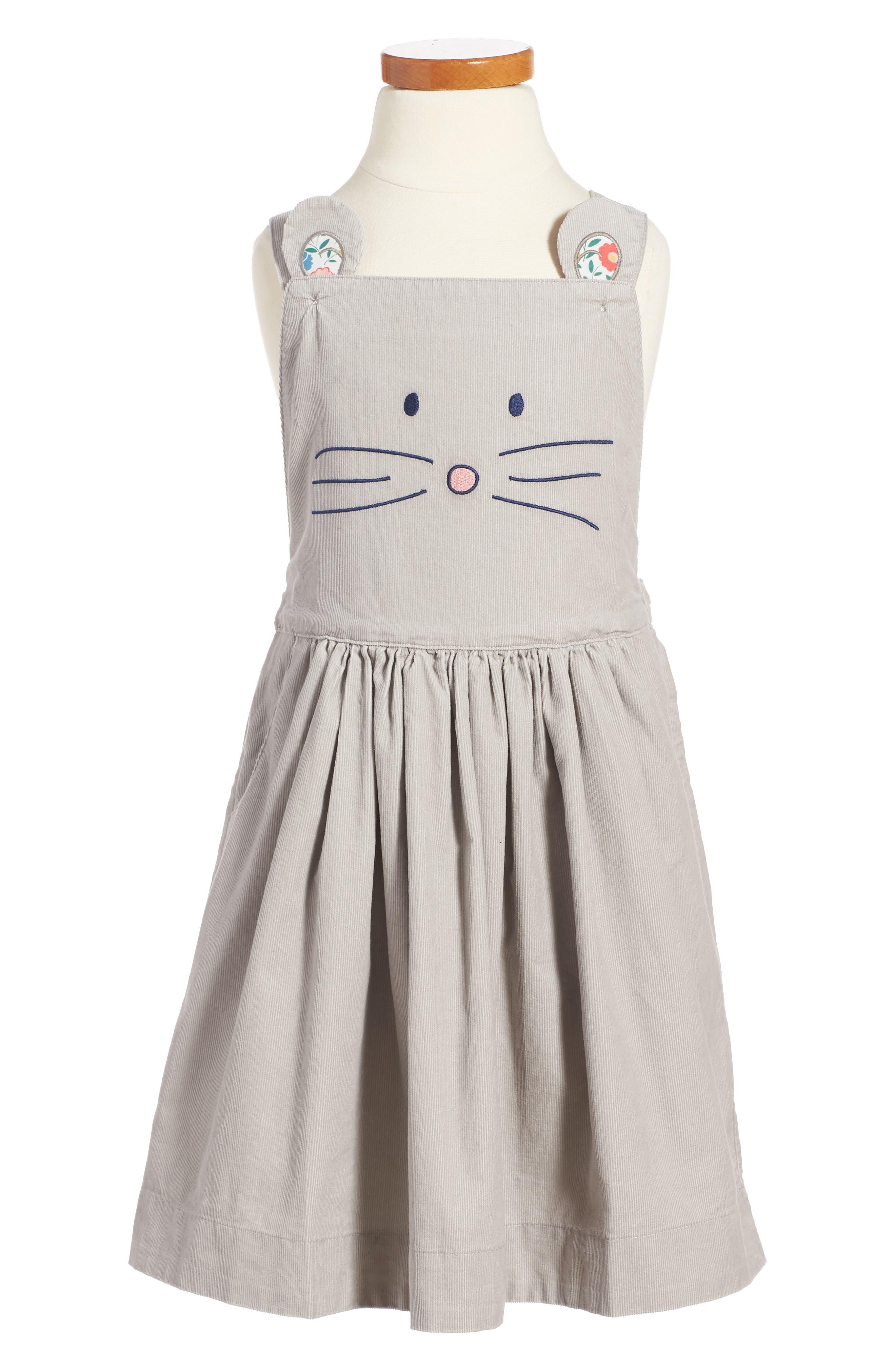 Mini Boden Animal Overall Dress (Toddler Girls, Little Girls & Big Girls)