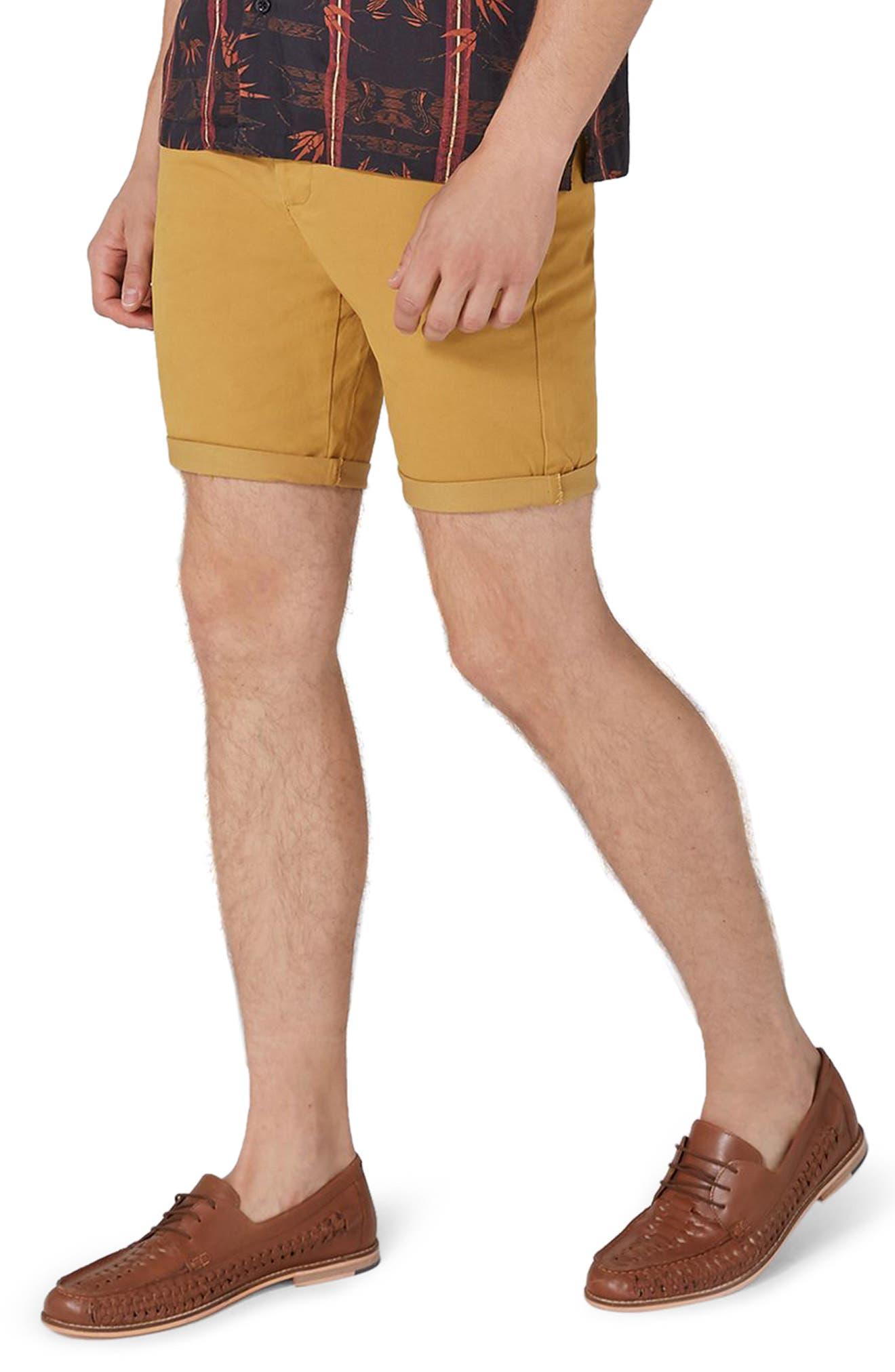 Topman Stretch Skinny Fit Chino Shorts