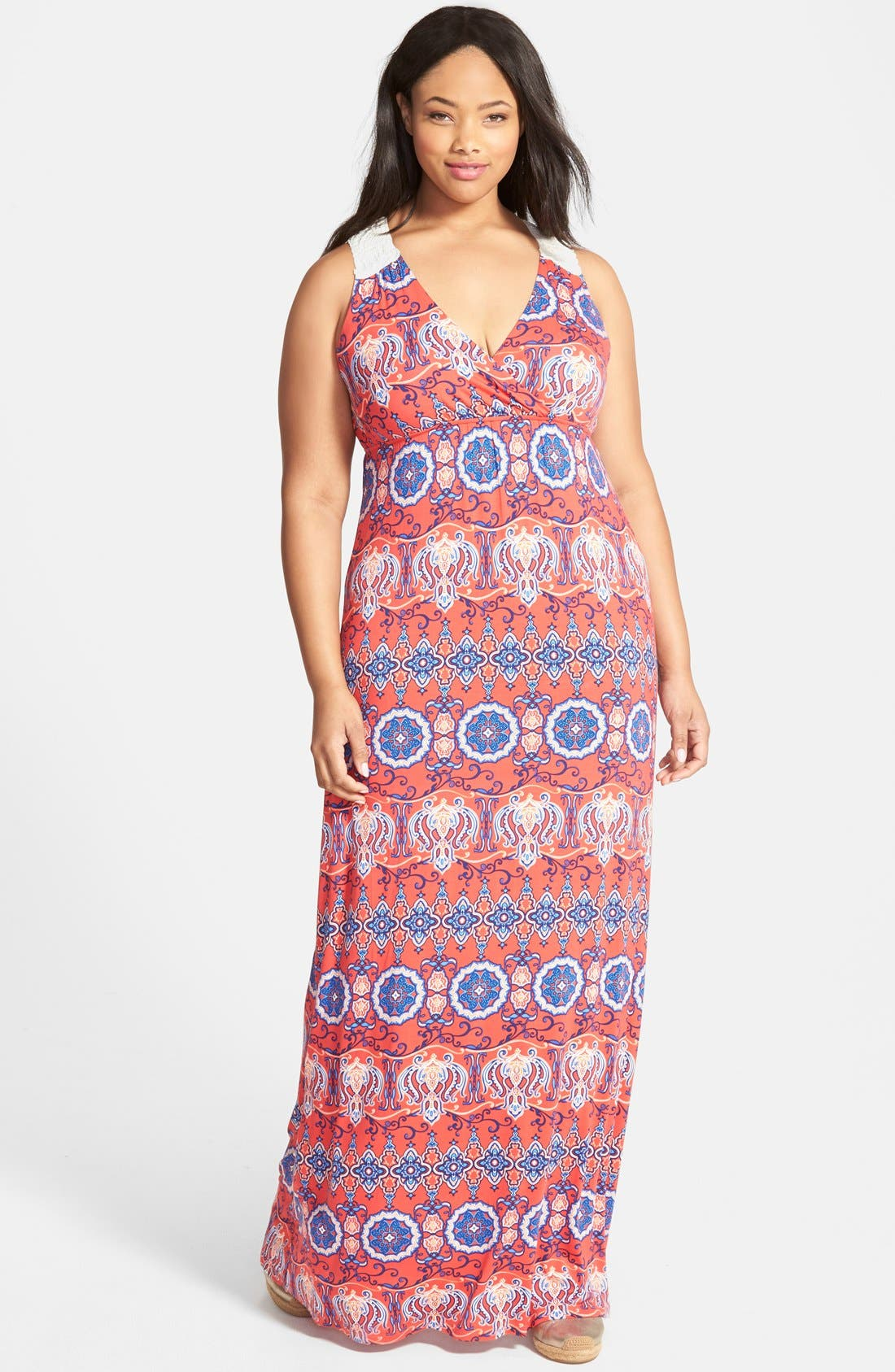 Alternate Image 1 Selected - Felicity & Coco Lace Back Maxi Dress (Plus Size) (Nordstrom Exclusive)