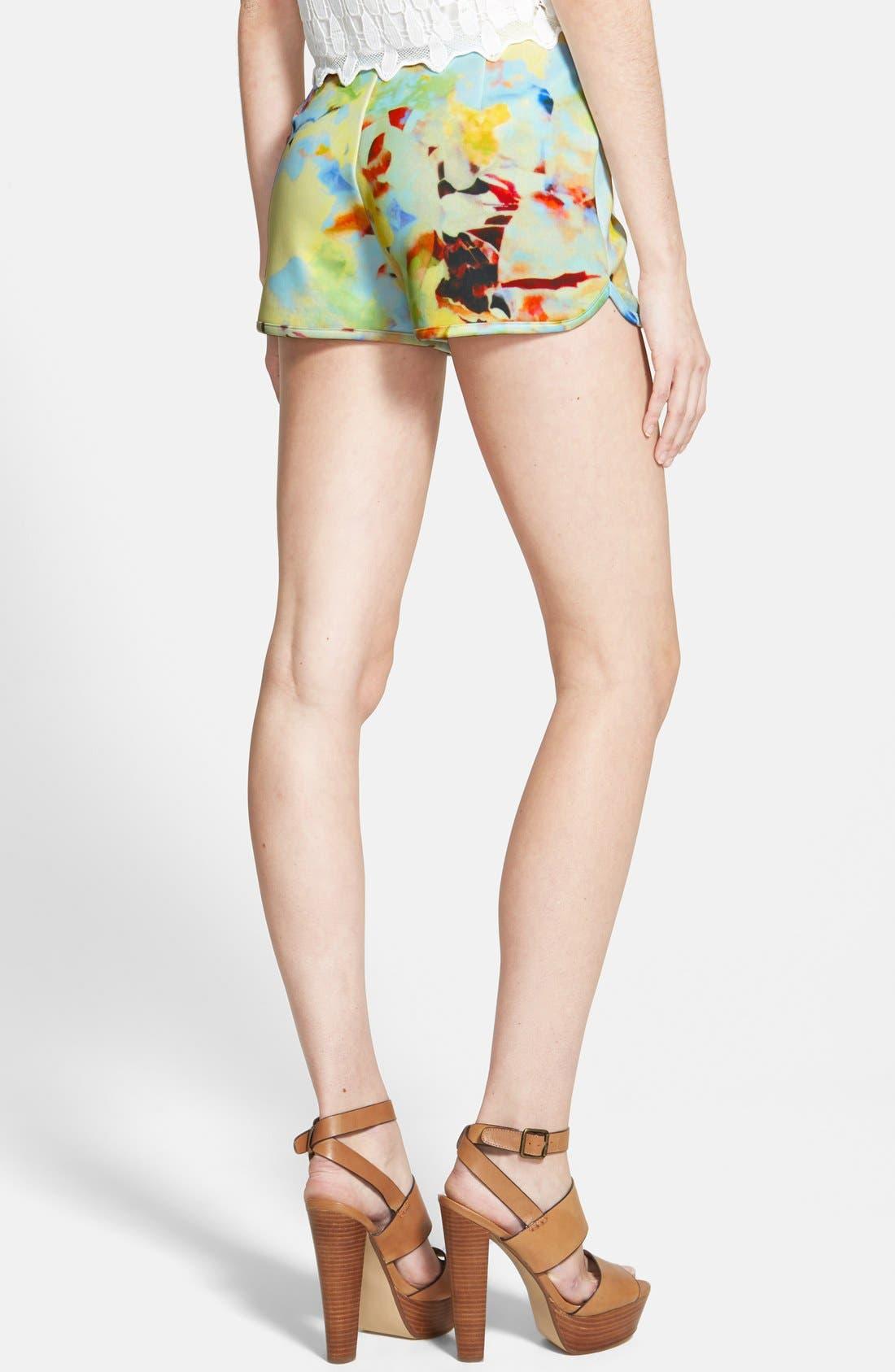 Alternate Image 2  - J.O.A. Floral Print Shorts