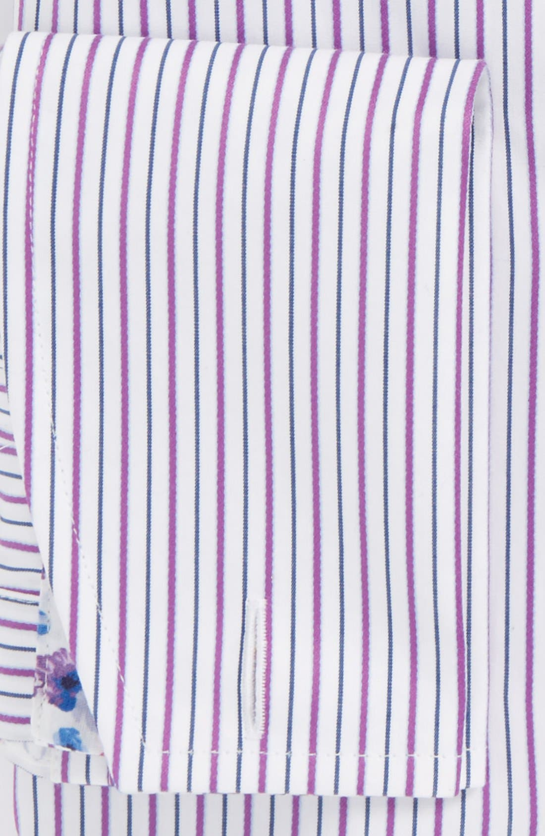 Alternate Image 2  - Ted Baker London 'Takeley' Trim Fit Stripe French Cuff Dress Shirt