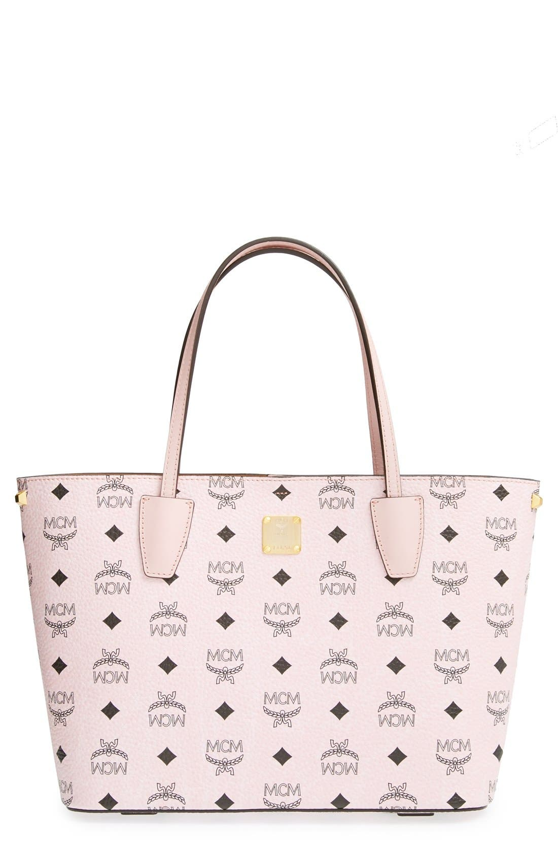 Main Image - MCM 'Visetos Collection - Medium Project' Logo Stamped Coated Canvas Shopper