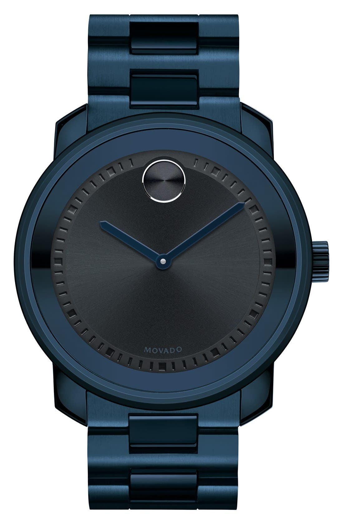 Movado 'Bold' Bracelet Watch, 44mm