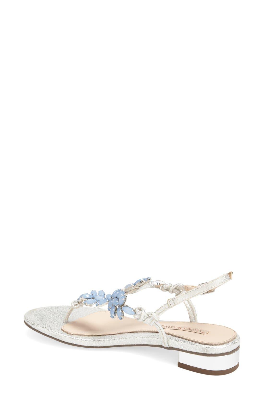 Alternate Image 2  - Menbur 'Dolara' Crystal Embellished Satin Thong Sandal (Women)