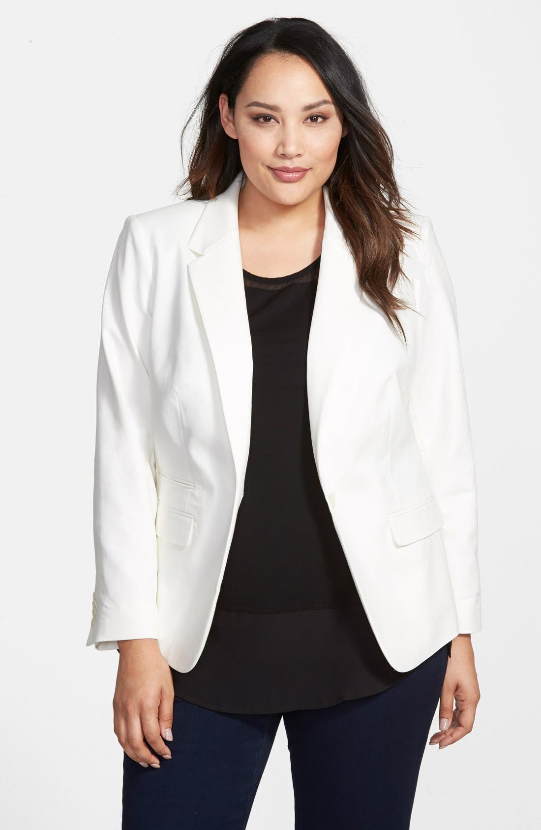 Vince Camuto One-Button Blazer (Plus Size)