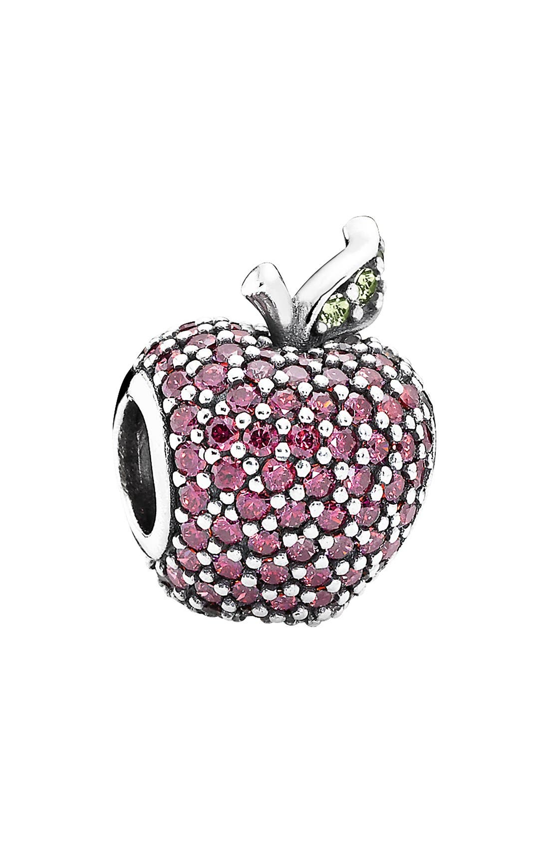 Main Image - PANDORA Pavé Apple Bead Charm