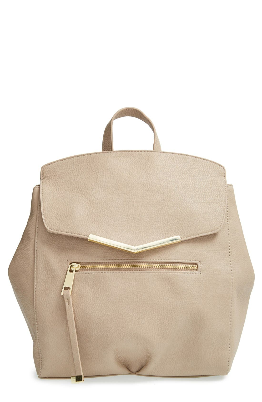 Main Image - T-Shirt & Jeans Faux Leather Backpack