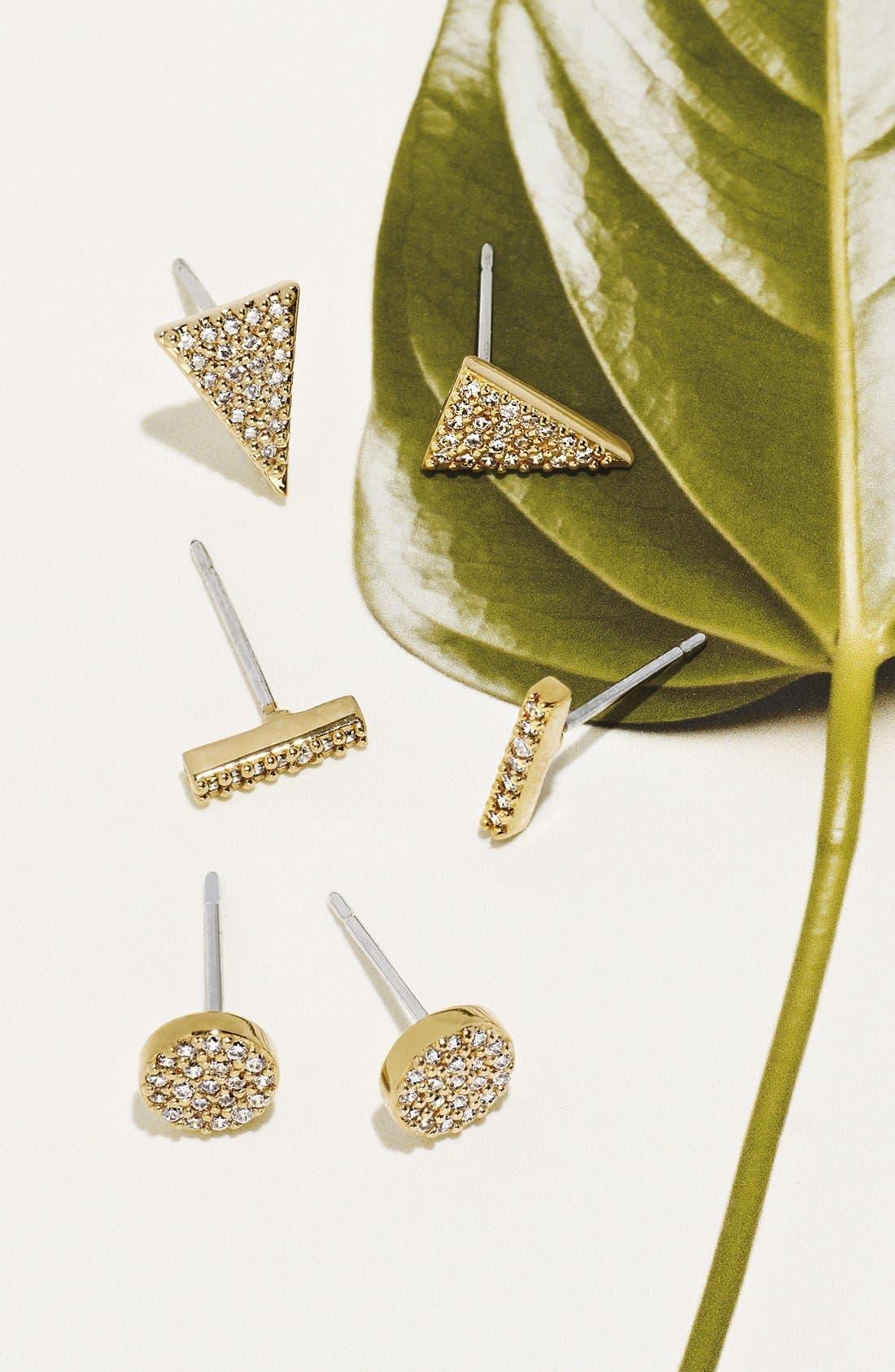 Alternate Image 3  - Nadri 'Geo' Small Stud Earrings