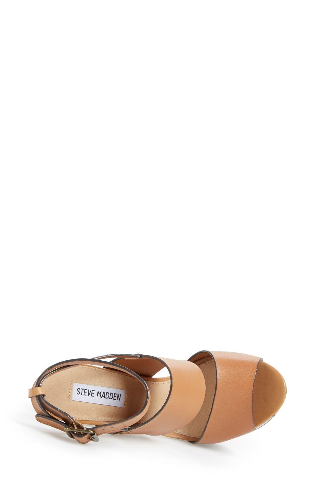 Alternate Image 3  - Steve Madden 'Dezzzy' Leather Ankle Strap Sandal (Women)