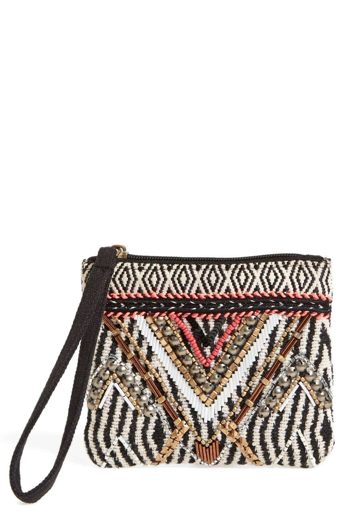 Main Image - Street Level 'Ratna' Beaded Wristlet