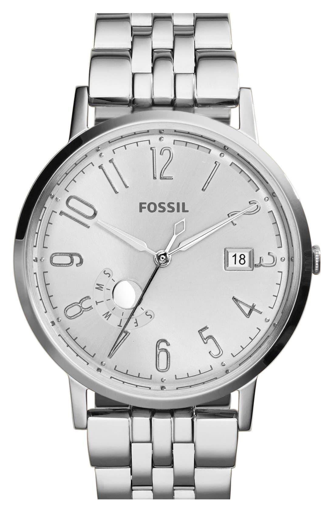 Alternate Image 1 Selected - Fossil 'Vintage Muse' Multifunction Bracelet Watch, 40mm