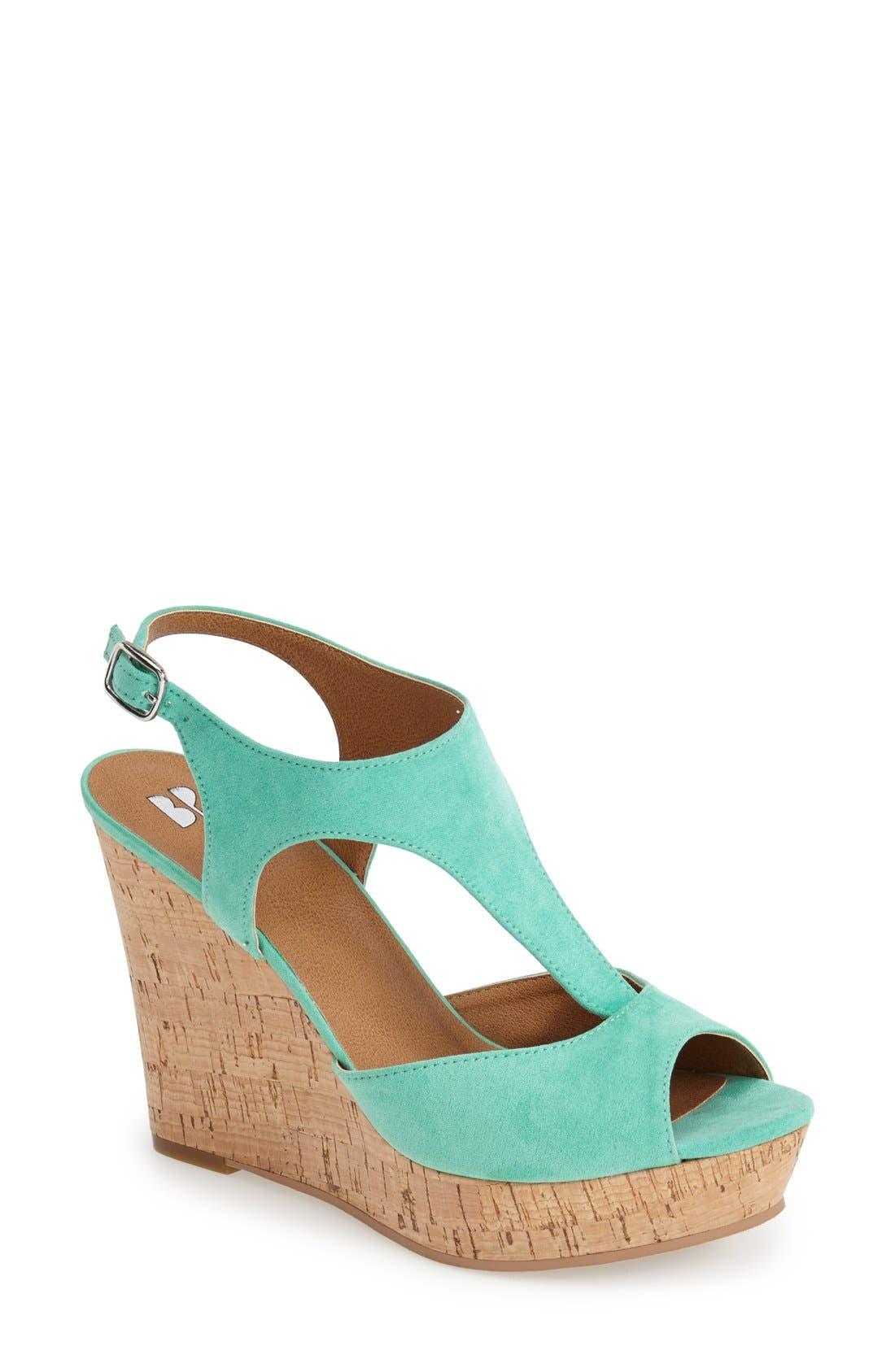 Alternate Image 1 Selected - BP. 'Springs' Peep Toe Wedge Sandal (Women)