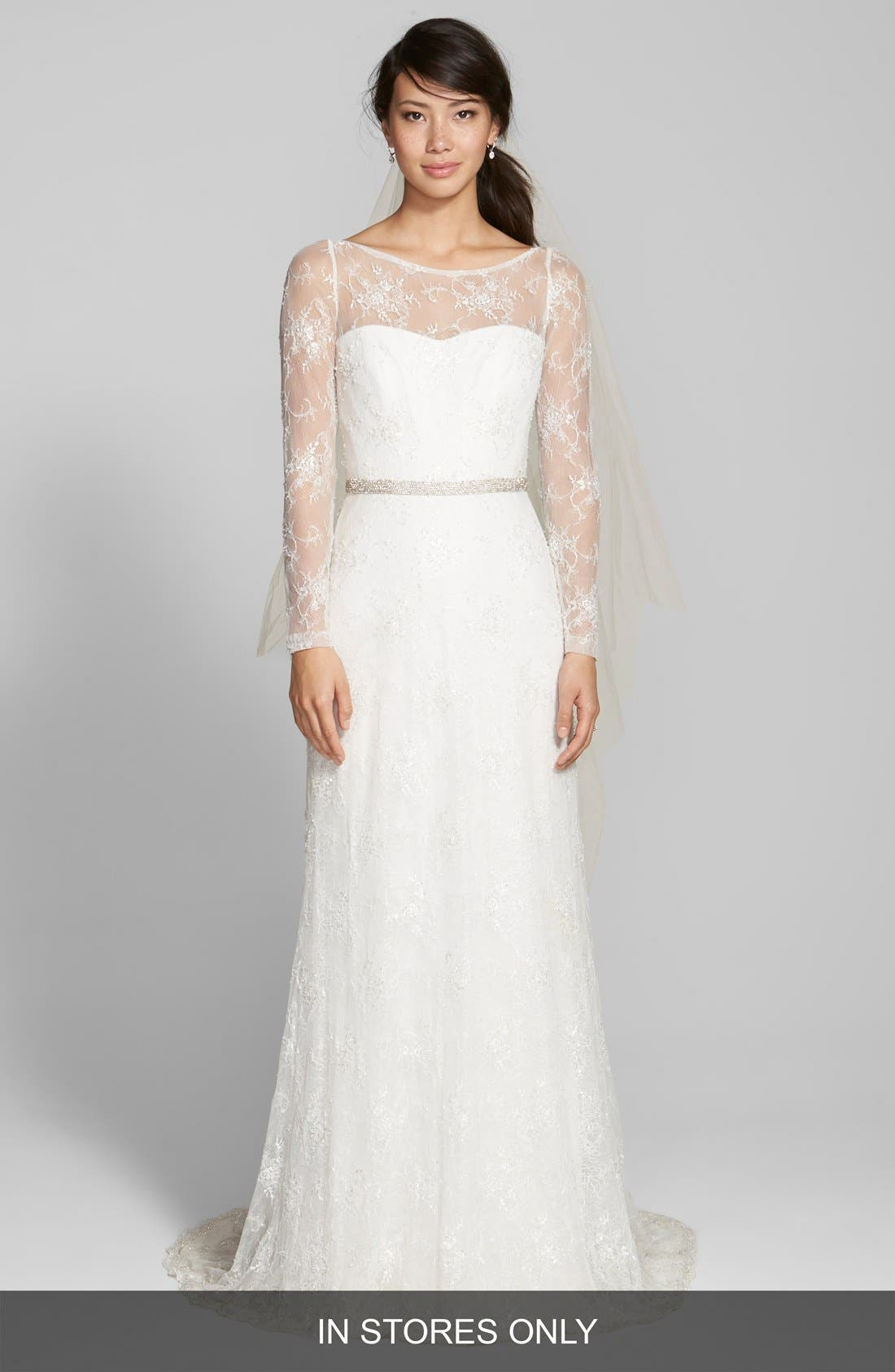 Jesús Peiró Illusion Yoke Embellished Lace Dress (In Stores Only)