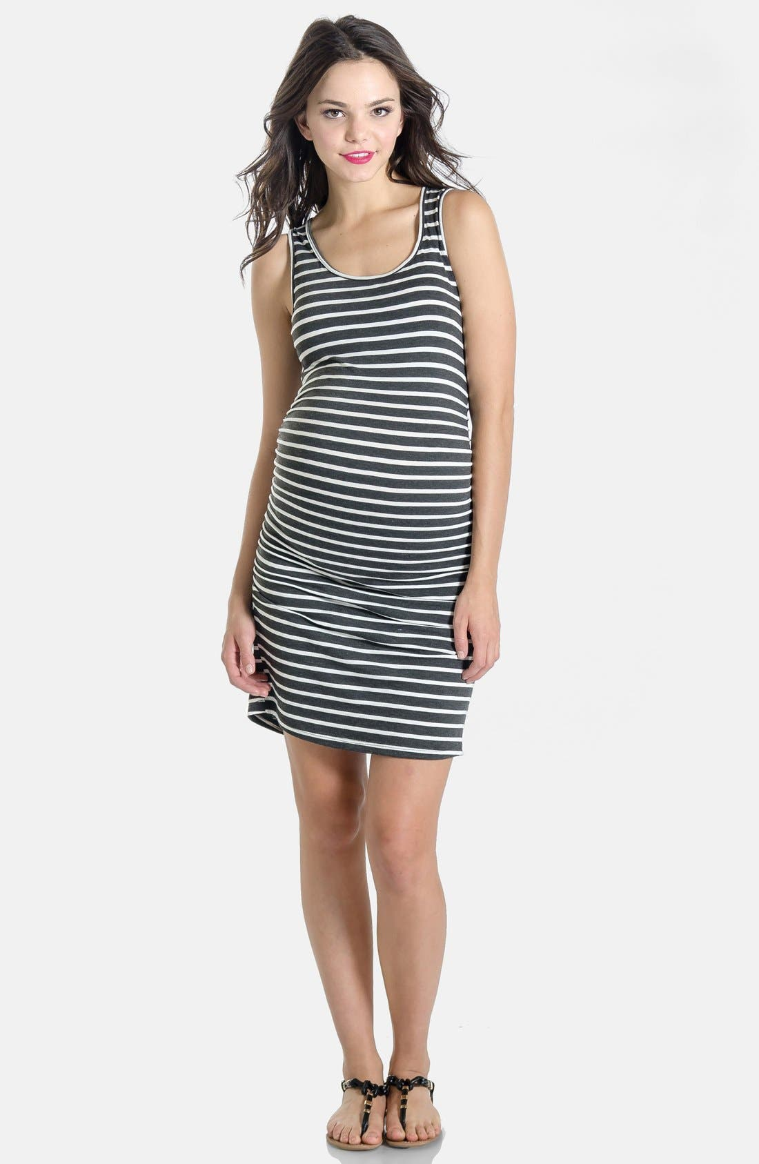Alternate Image 1 Selected - Lilac Clothing 'Shannon' Maternity Tank Dress