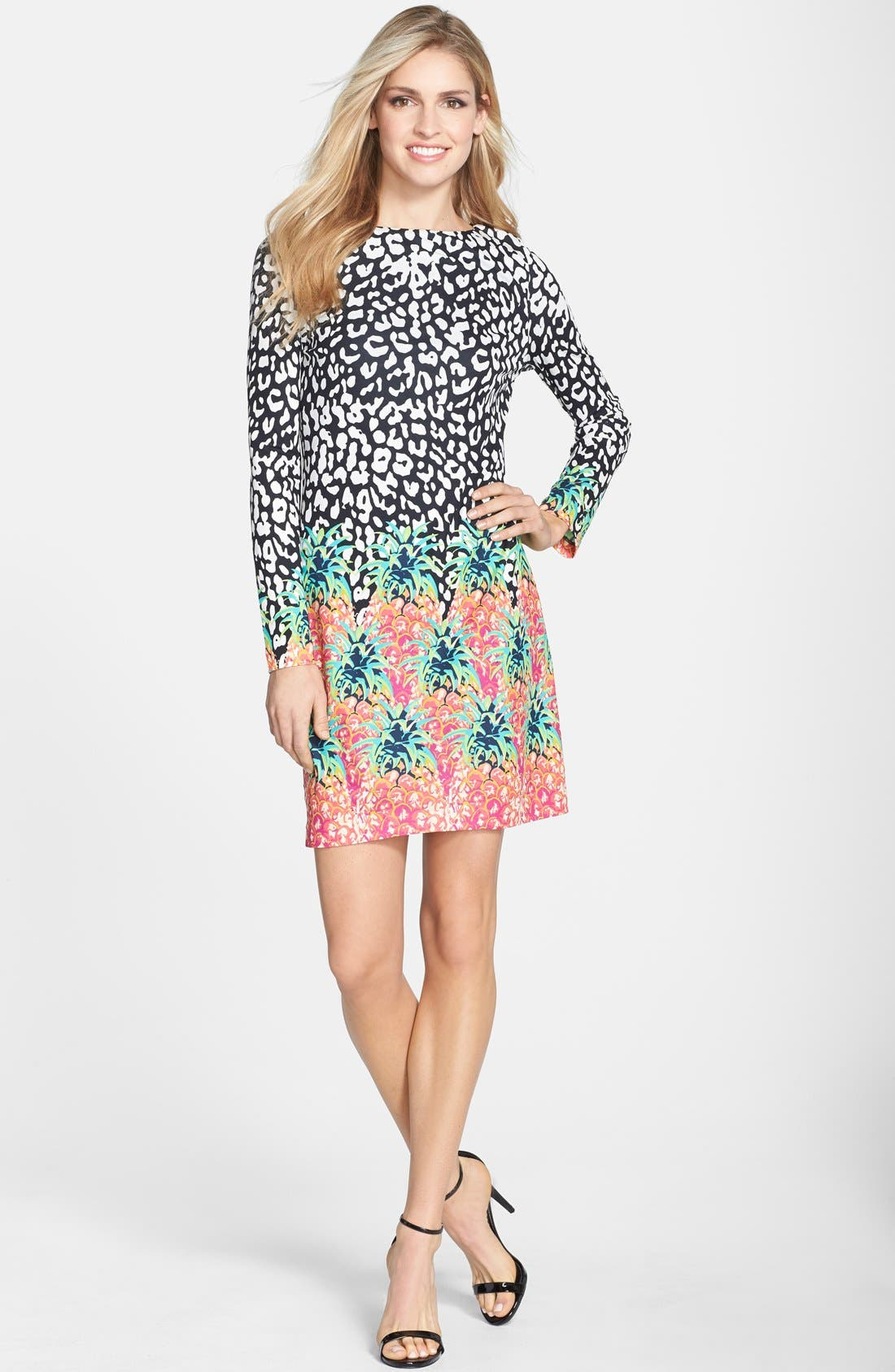 Alternate Image 3  - Nicole Miller Mixed Print Jersey Shift Dress