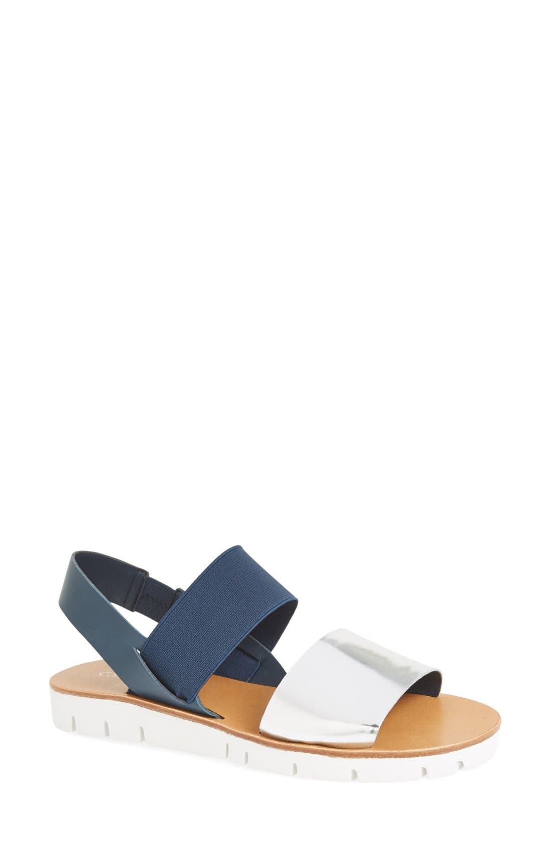 Alternate Image 1 Selected - Calvin Klein 'Prisma' Double Band Sport Sandal (Women)