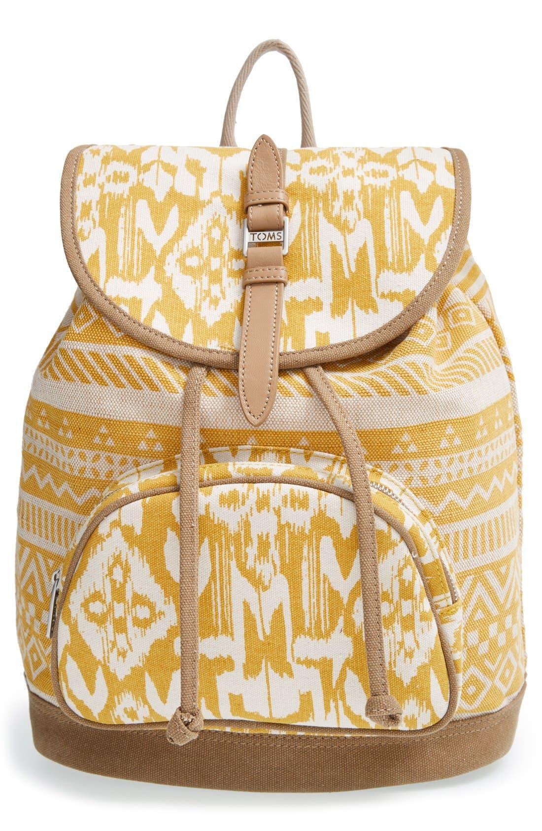 Alternate Image 1 Selected - TOMS 'Traveler' Canvas Backpack