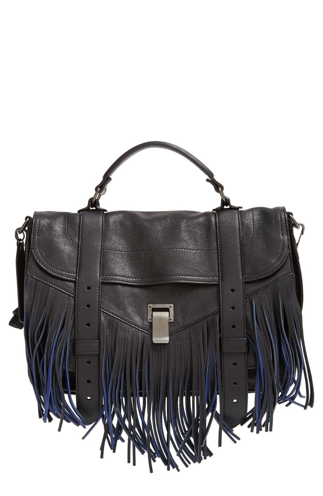 Main Image - Proenza Schouler 'Medium PS1' Fringe Leather Satchel