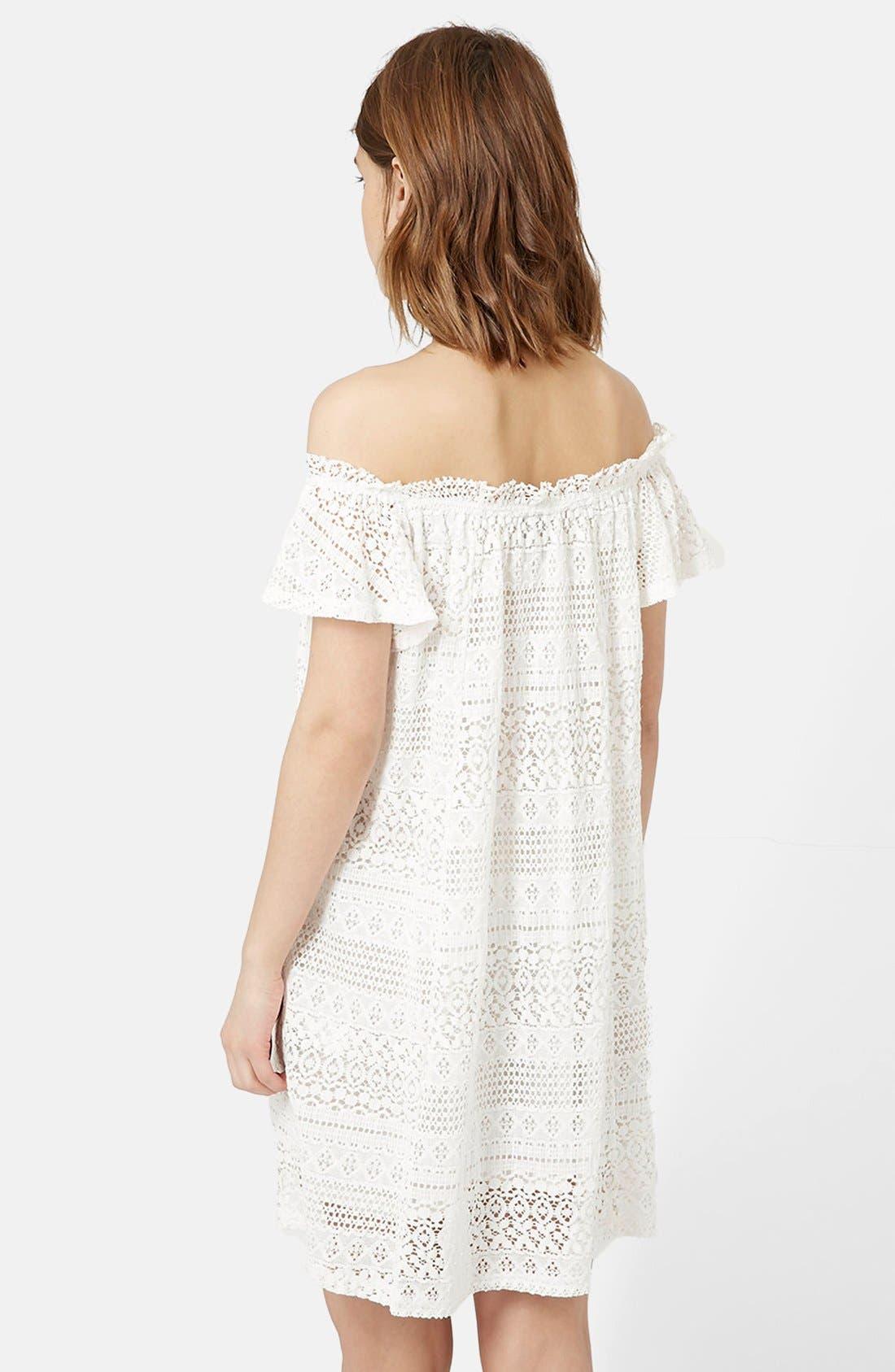 Alternate Image 3  - Topshop Lace Off the Shoulder Dress