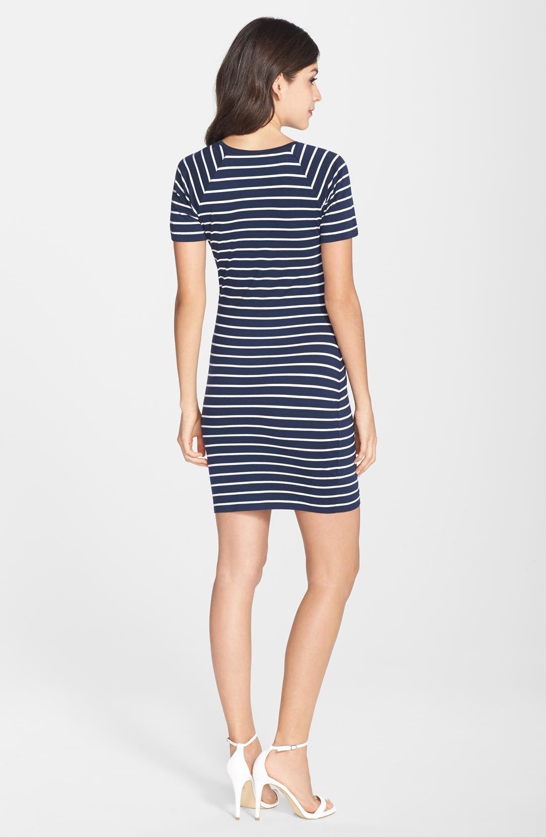 Alternate Image 2  - French Connection Embellished Stripe Body-Con Dress