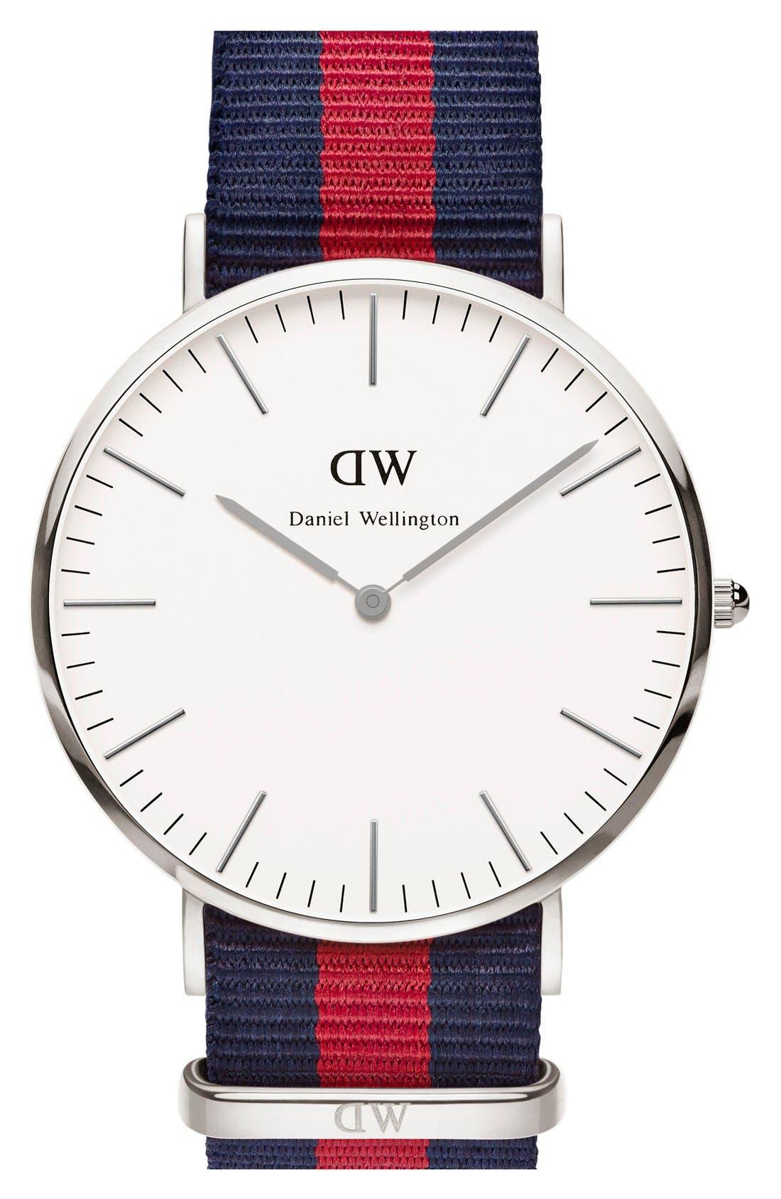 Alternate Image 1 Selected - Daniel Wellington 'Classic Oxford' NATO Strap Watch, 40mm