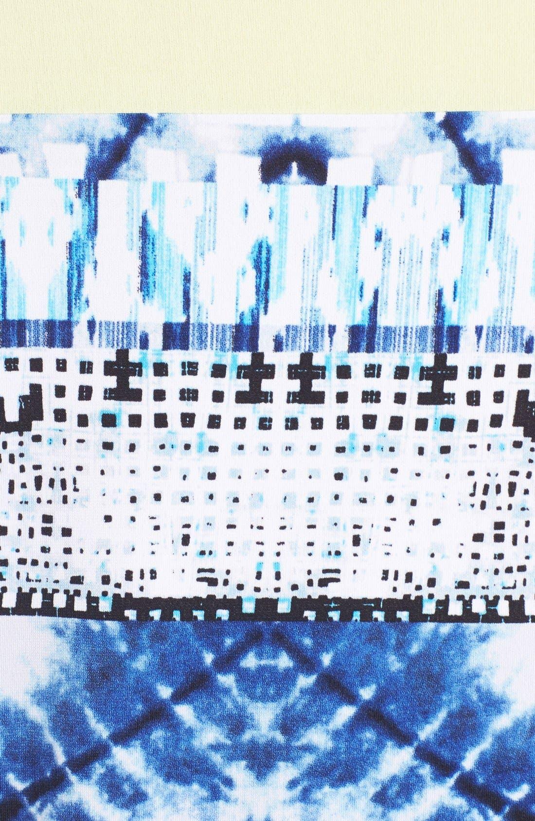 Alternate Image 3  - BCBGMAXAZRIA Mixed Print Jersey Shift Dress