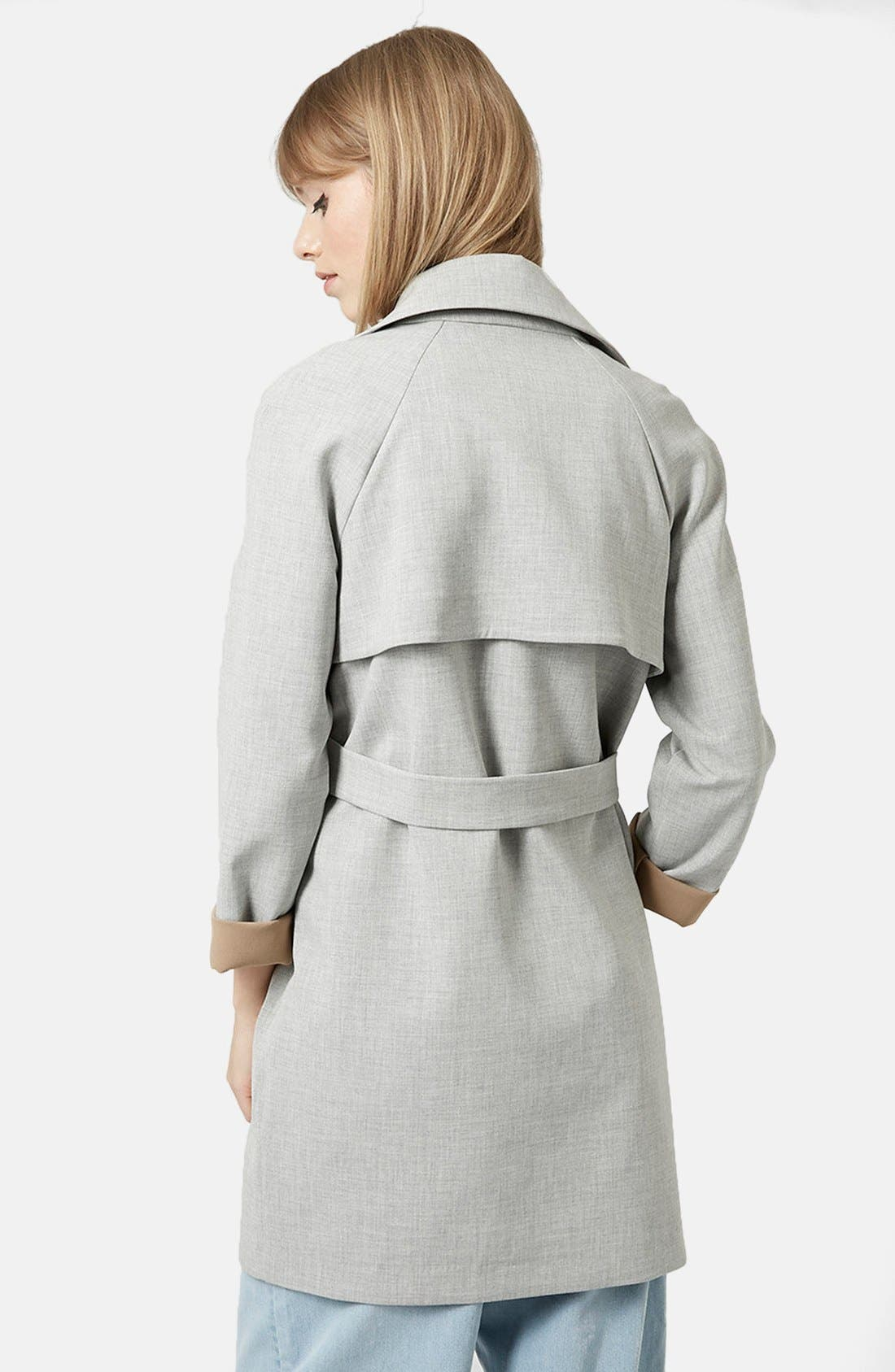 Alternate Image 2  - Topshop Double Breasted Trench Coat