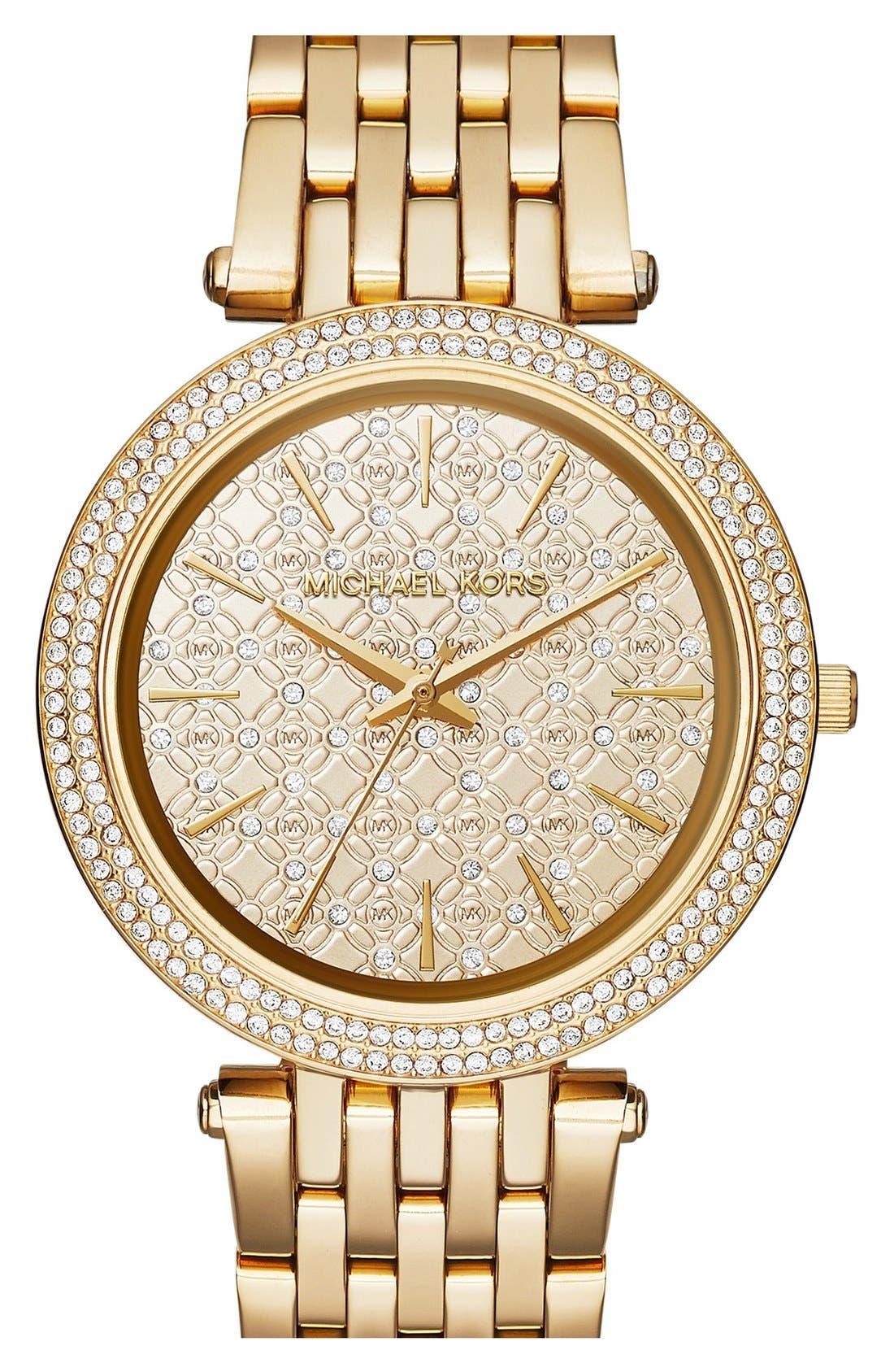 Alternate Image 1 Selected - Michael Kors 'Darci' Round Bracelet Watch, 39mm