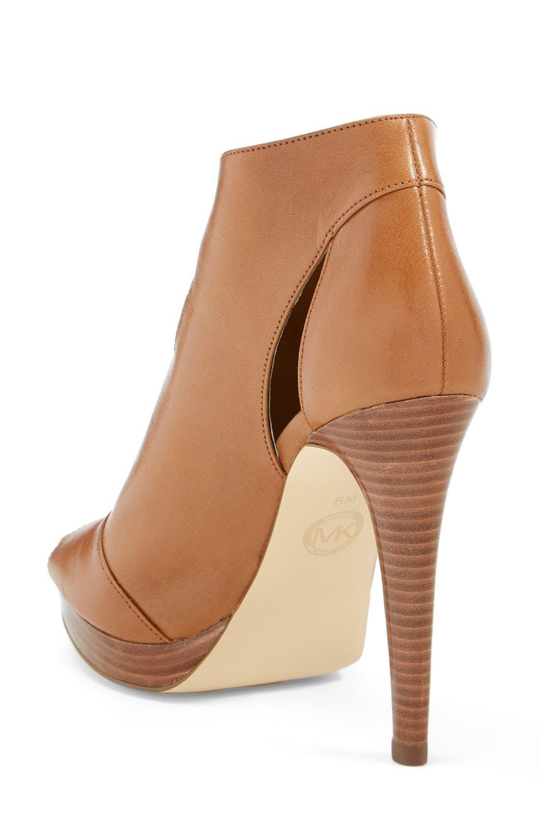 Alternate Image 2  - MICHAEL Michael Kors 'Isabella' Leather Peep Toe Bootie (Women)