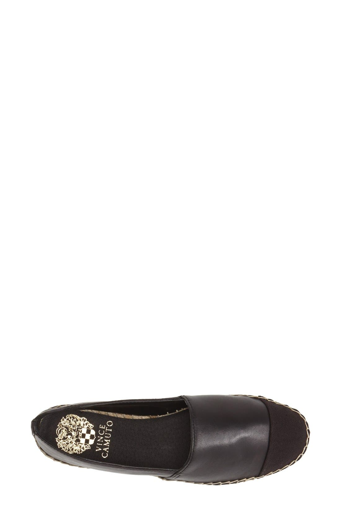 Alternate Image 3  - Vince Camuto 'Dally' Leather Espadrille Flat (Women)
