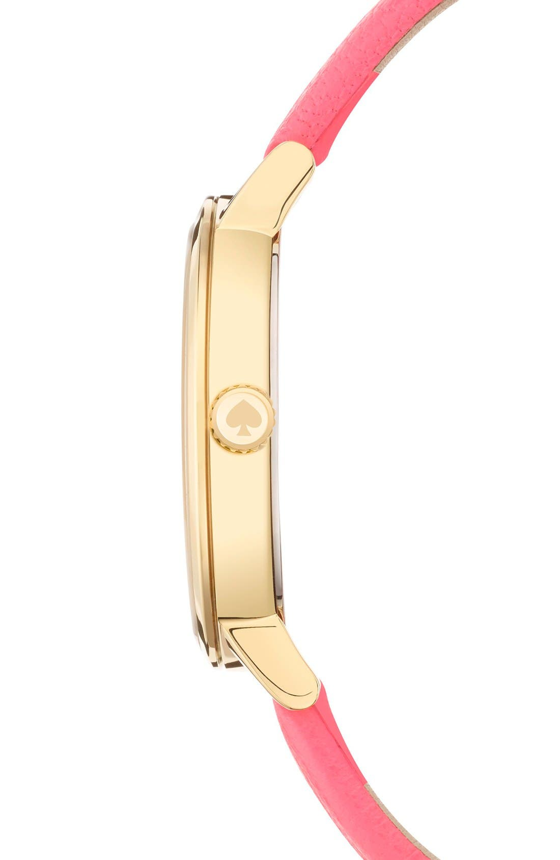 Alternate Image 3  - kate spade new york 'metro - somewhere' leather strap watch, 35mm