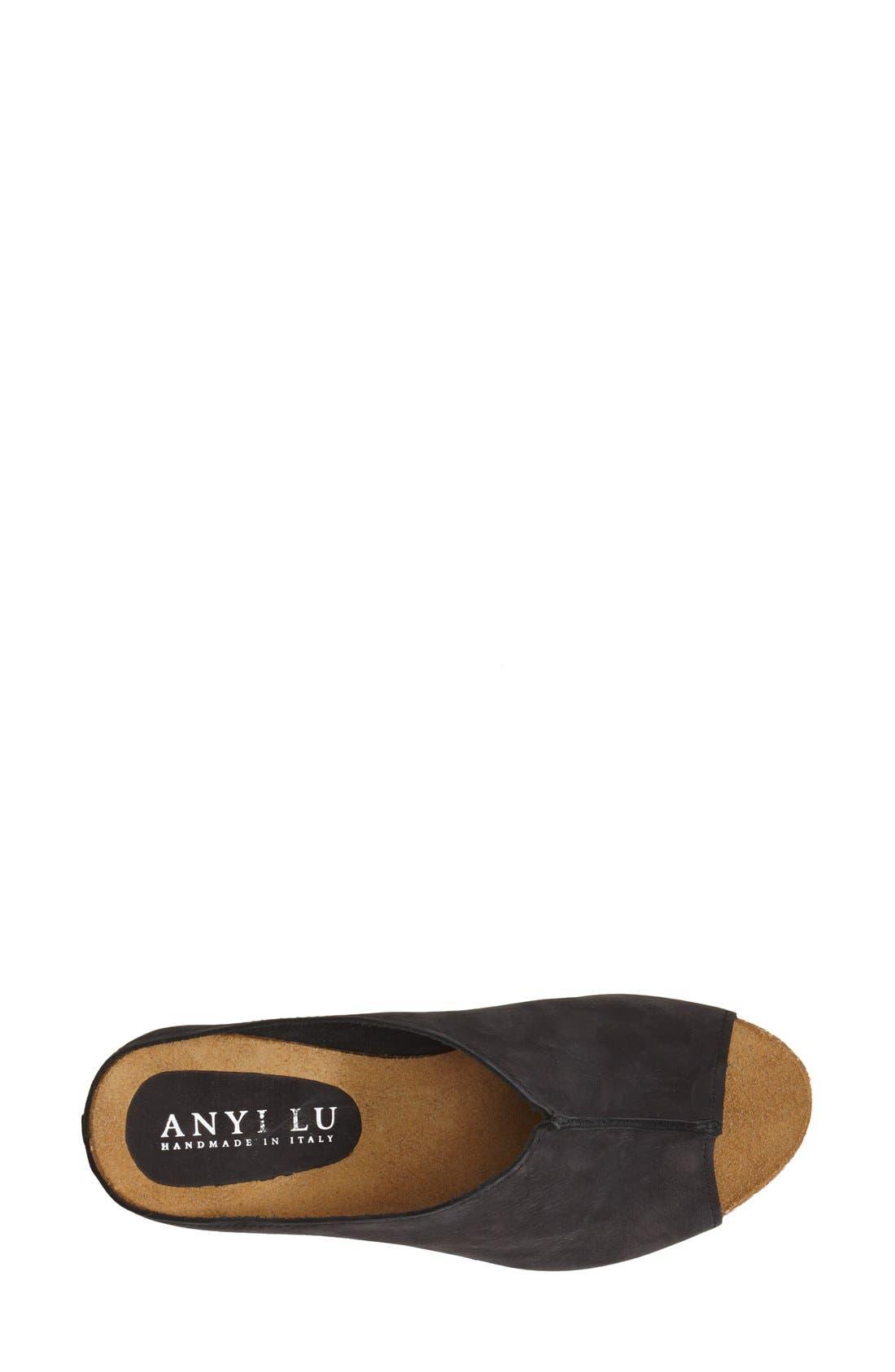 Alternate Image 3  - Anyi Lu 'Sara' Nubuck Leather Peep Toe Mule Wedge (Women)