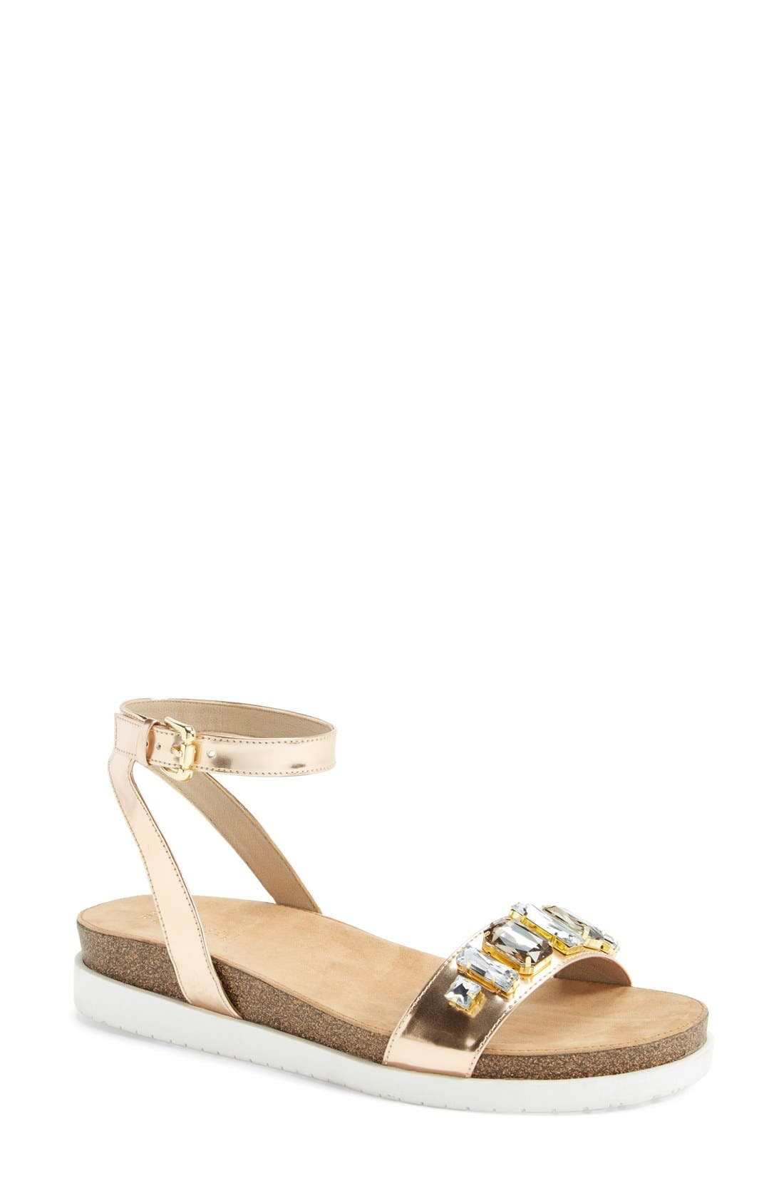 Alternate Image 1 Selected - Kenneth Cole Reaction 'So Wild' Ankle Strap Sandal (Women)