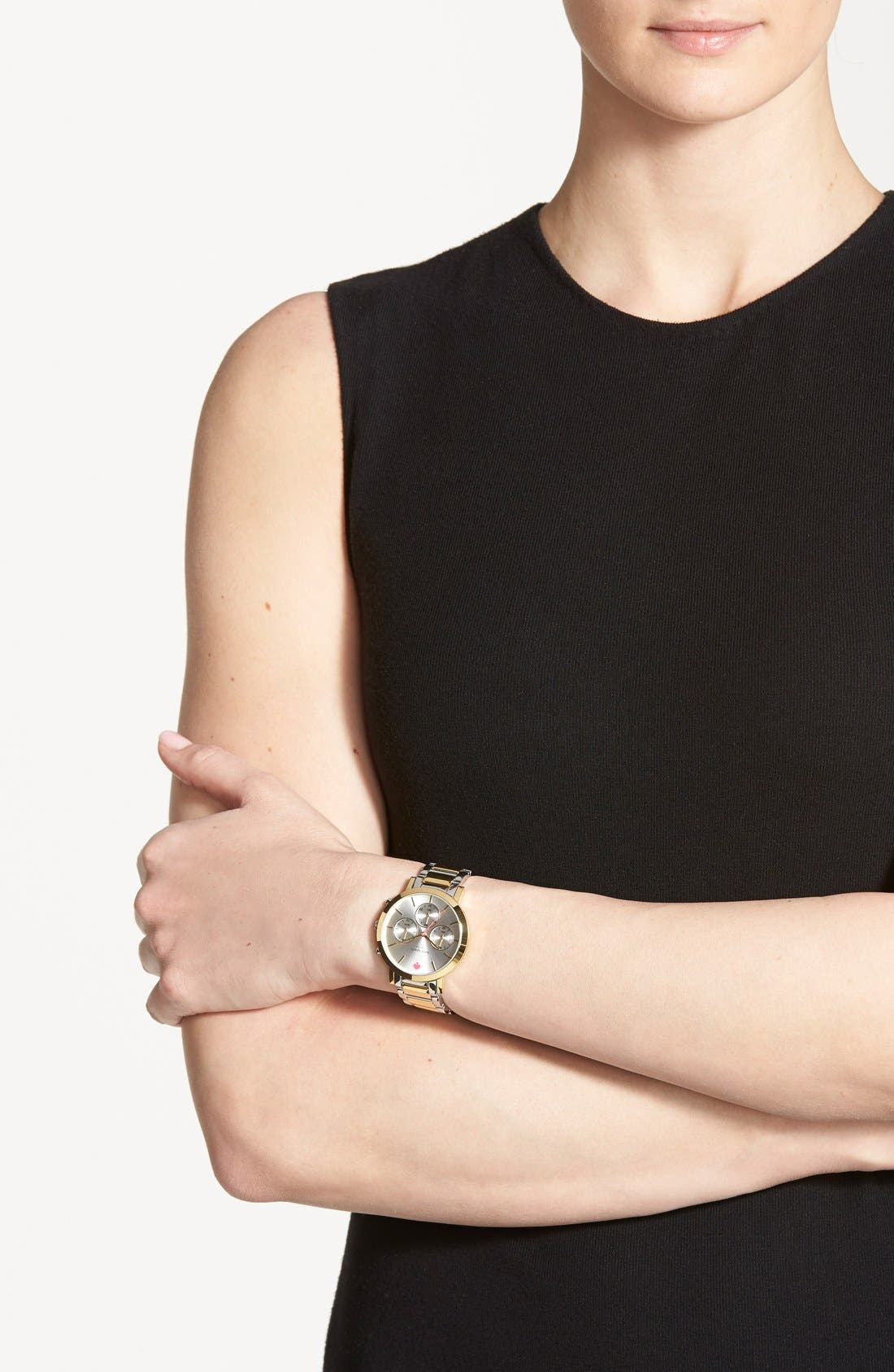 Alternate Image 5  - kate spade new york 'gramercy grand' chronograph bracelet watch, 38mm