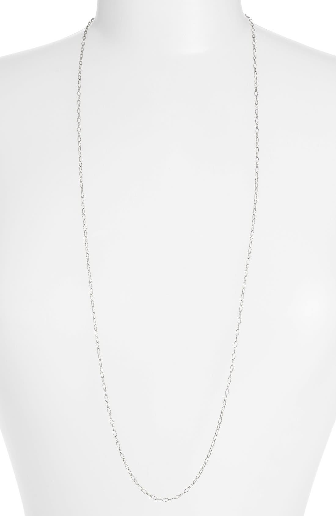 BONY LEVY Textured Chain Long Necklace