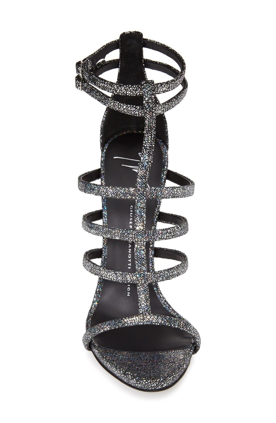 Alternate Image 3  - Giuseppe Zanotti Metallic Strappy Sandal (Women)