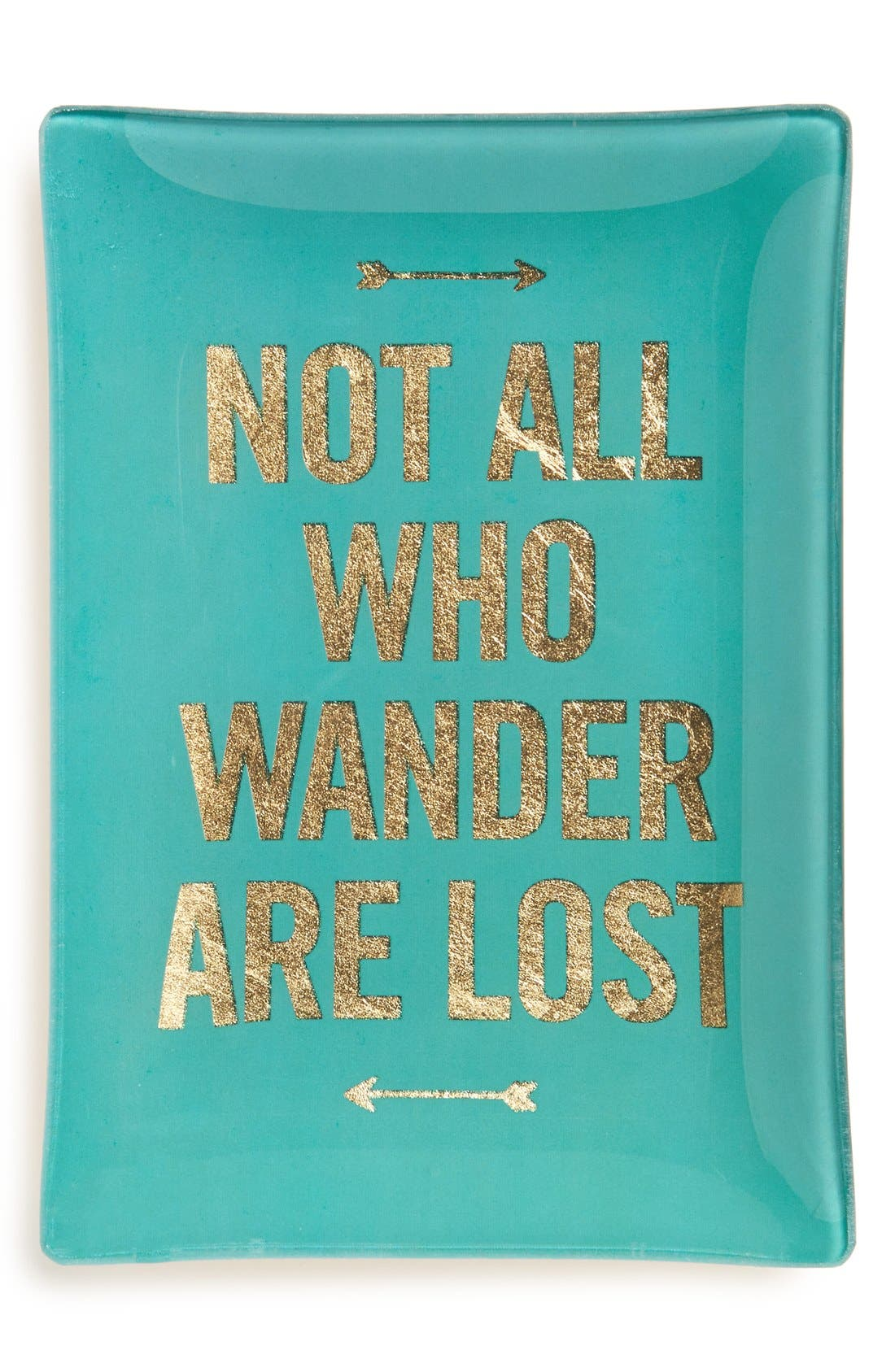 Main Image - Fringe Studio 'Not All Who Wander Are Lost' Glass Trinket Tray
