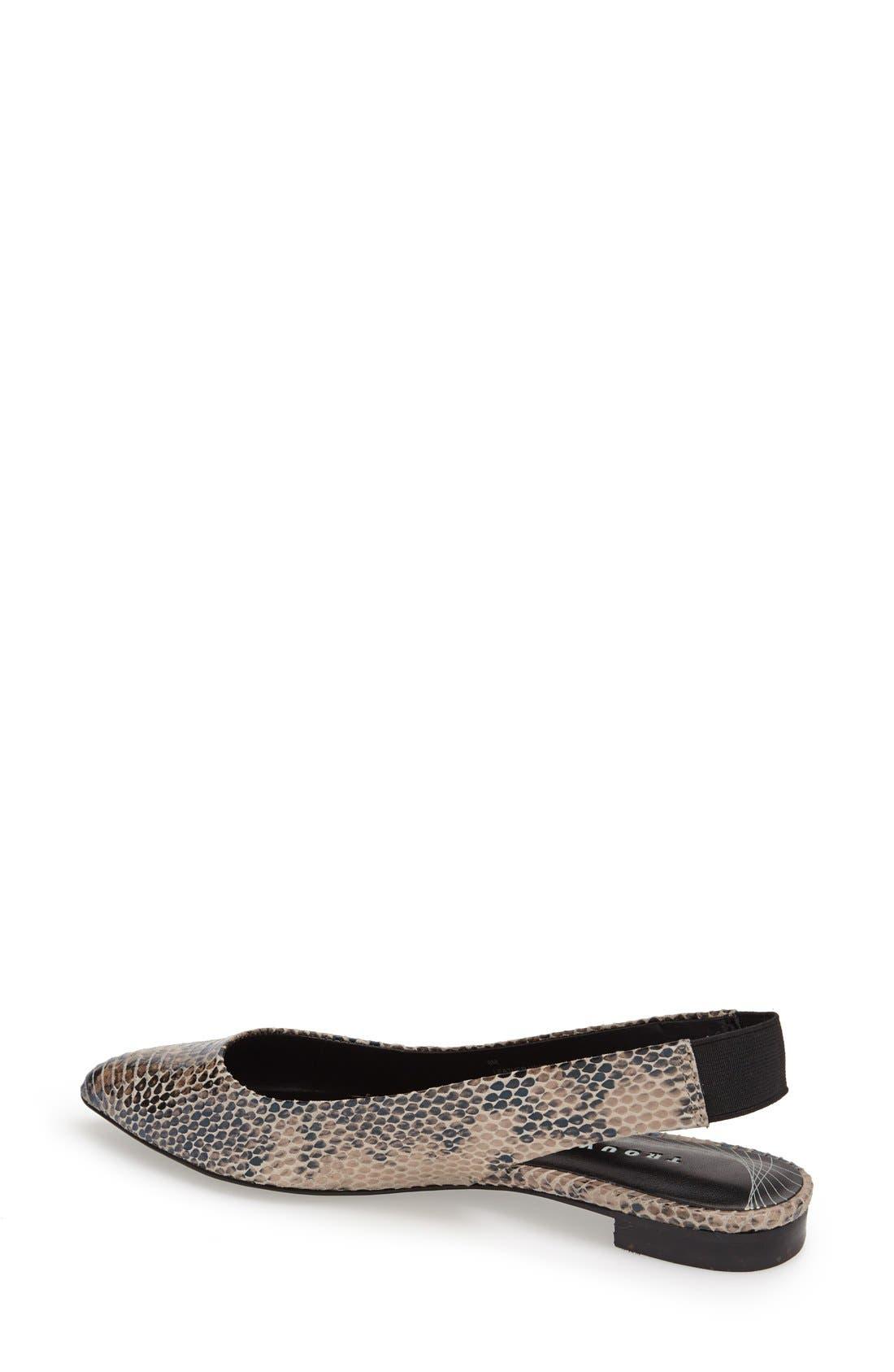 Alternate Image 2  - Trouvé 'Mona' Pointy Toe Leather Flat (Women)