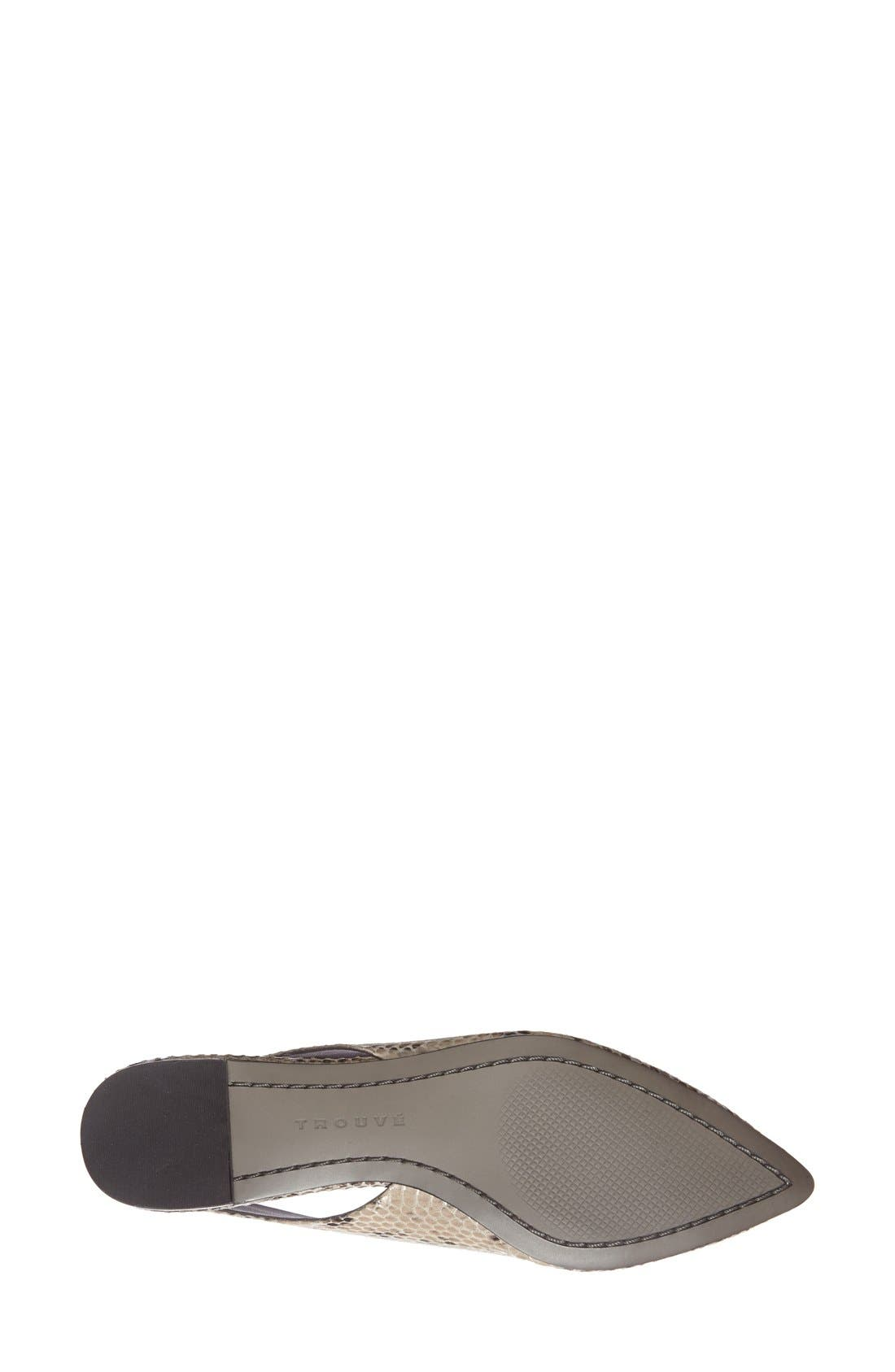 Alternate Image 4  - Trouvé 'Mona' Pointy Toe Leather Flat (Women)