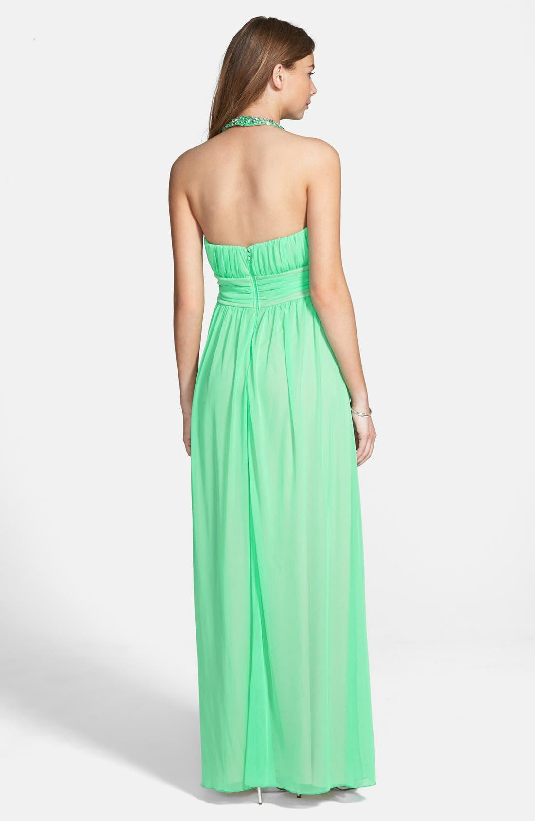 Alternate Image 2  - Way-In 'Laura' Embellished Gown (Juniors)