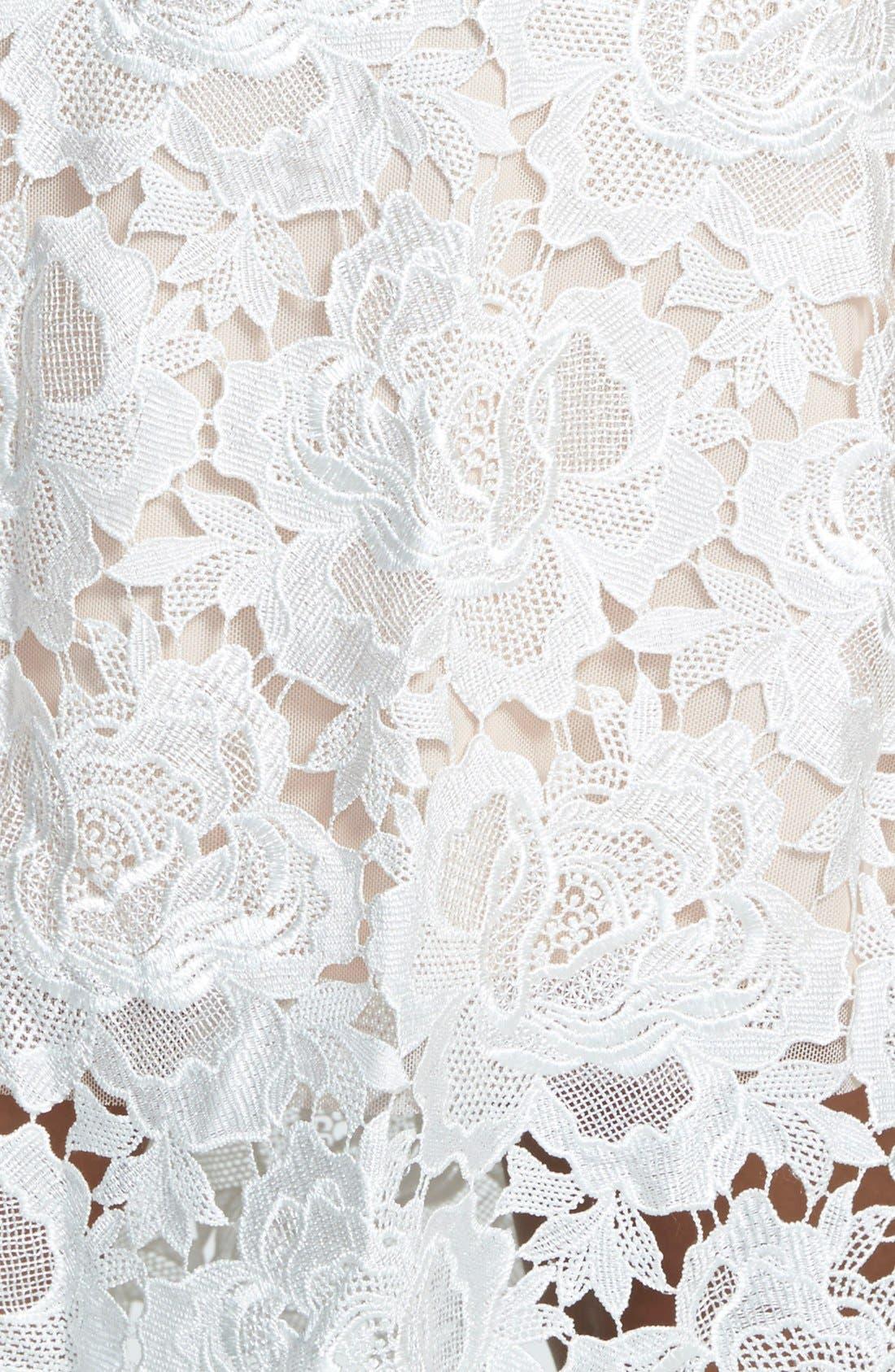 Alternate Image 2  - Julia Jordan Floral Lace Sleeveless Sheath Dress (Plus Size)