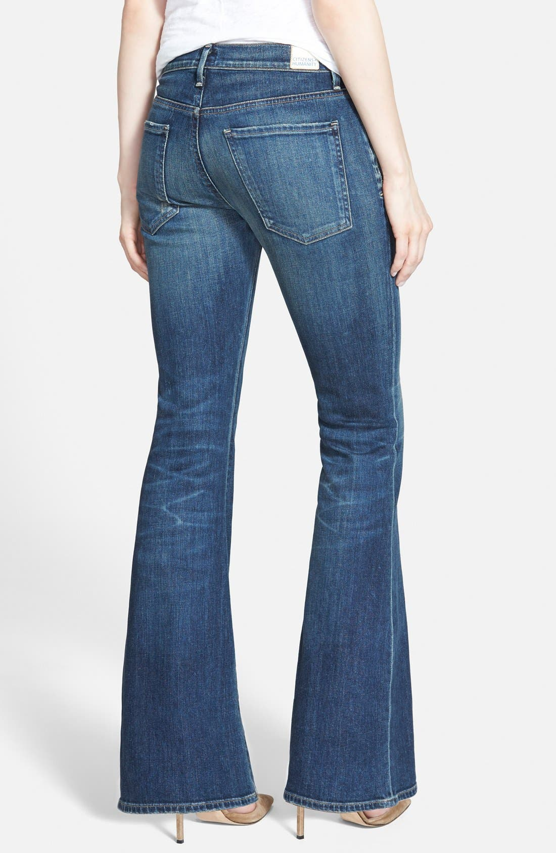 Alternate Image 2  - Citizens of Humanity 'Fleetwood' High Rise Flare Jeans (Harvest Moon) (Petite)