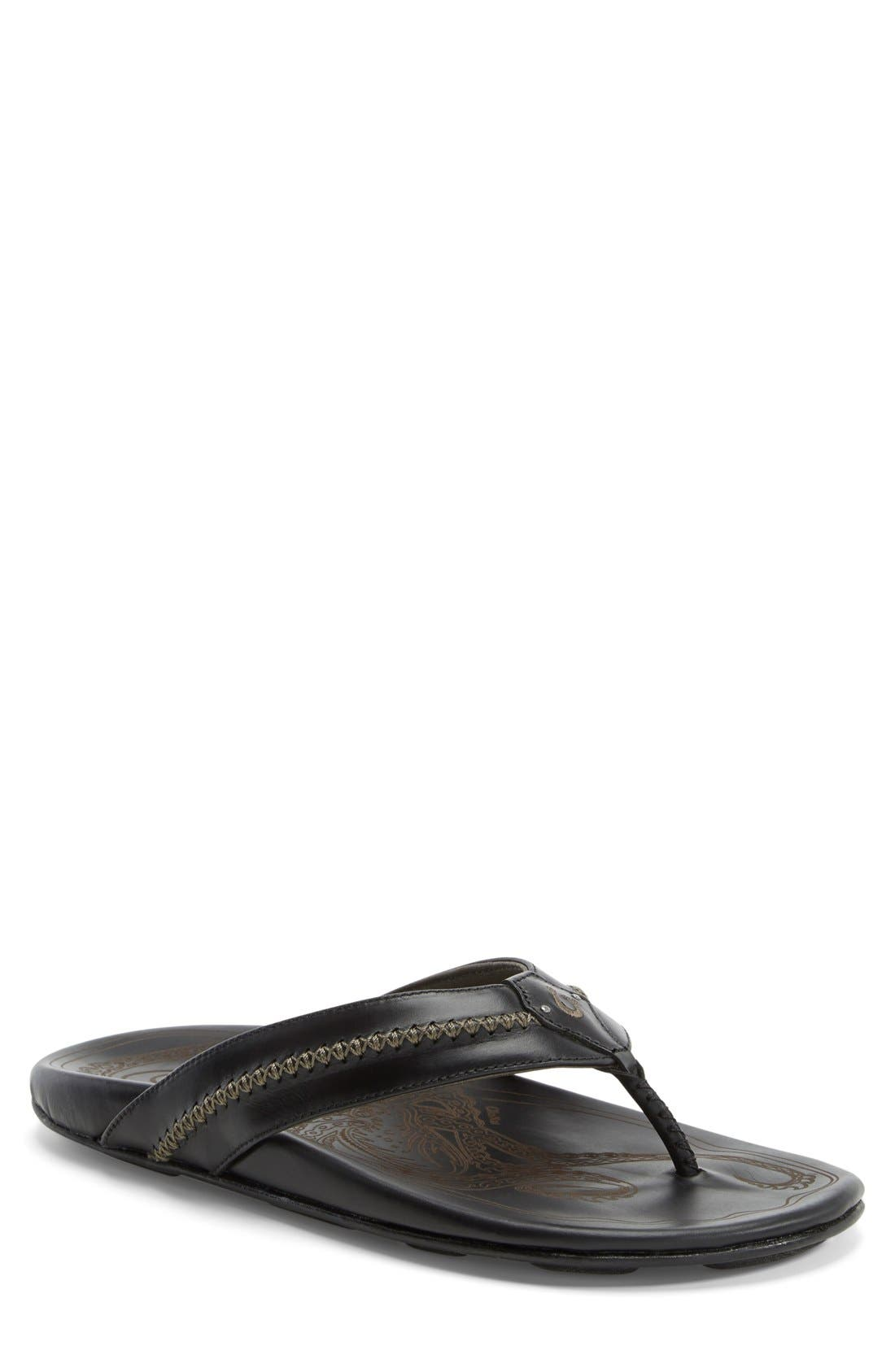 OluKai 'Mea Ola' Flip Flop (Men) (Regular Retail Price: $120.00)