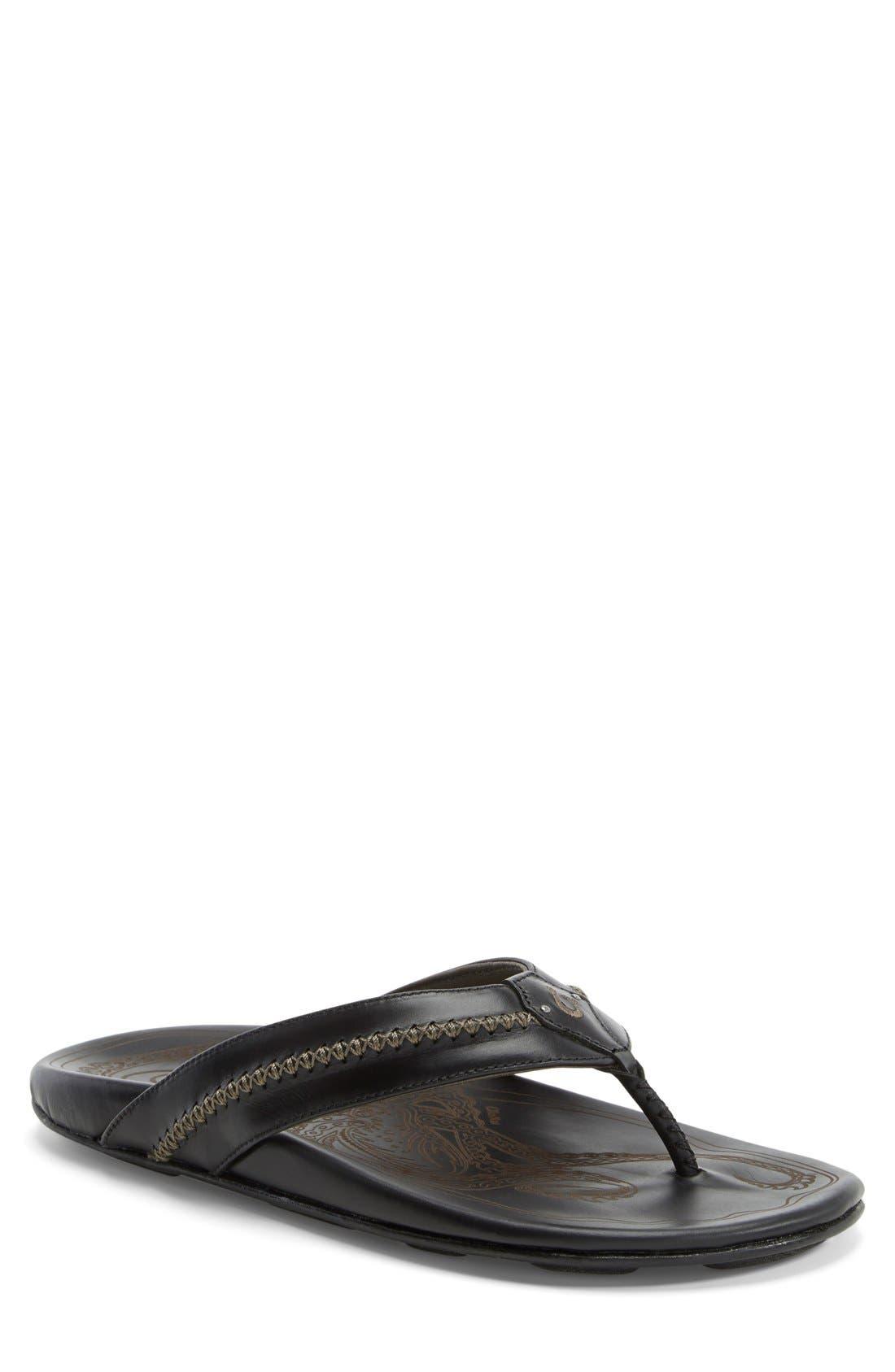 OluKai 'Mea Ola' Flip Flop (Men) (Regular Retail Price: $120.00)