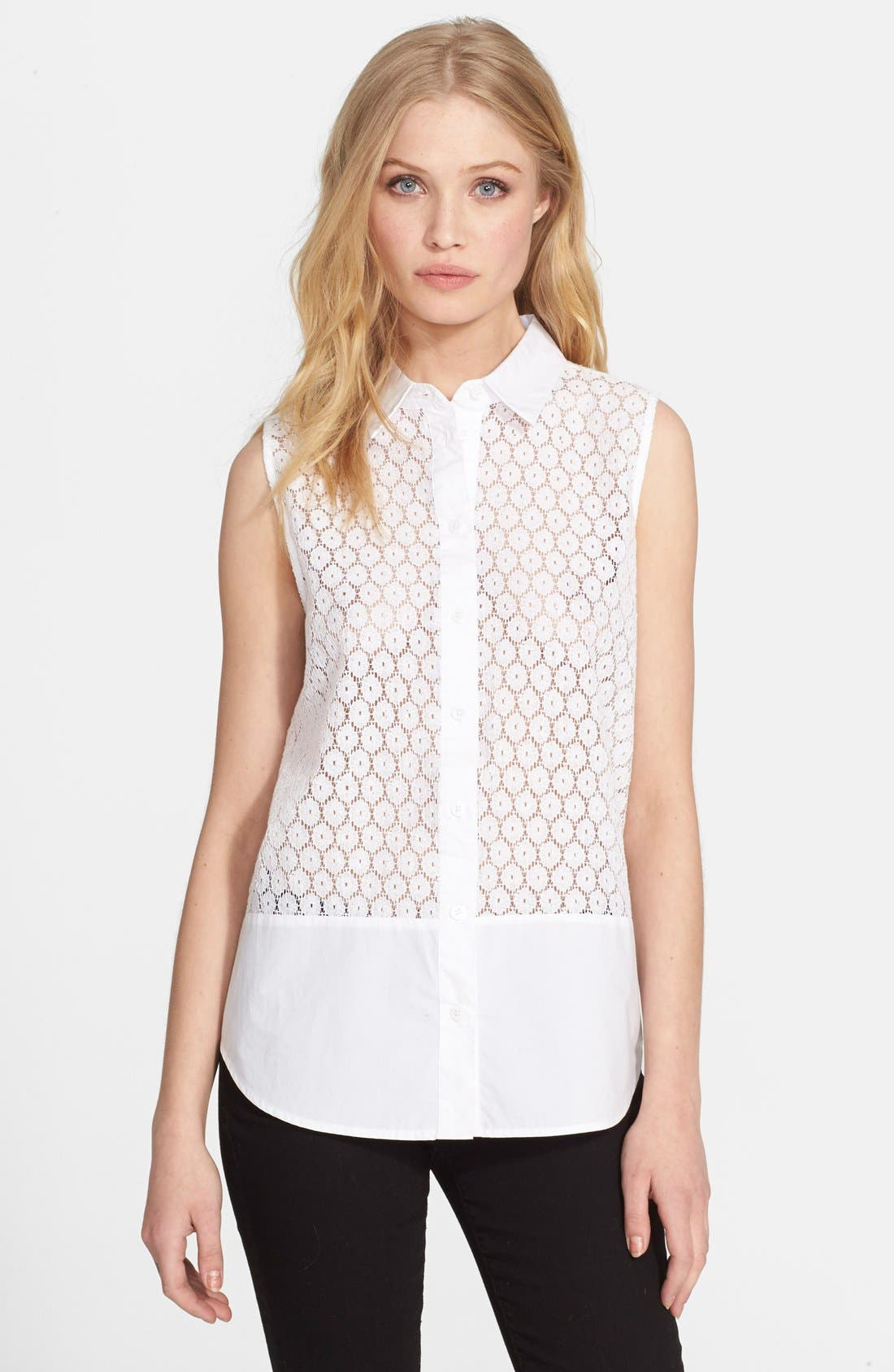 Alternate Image 1 Selected - Equipment 'Colleen' Eyelet Top