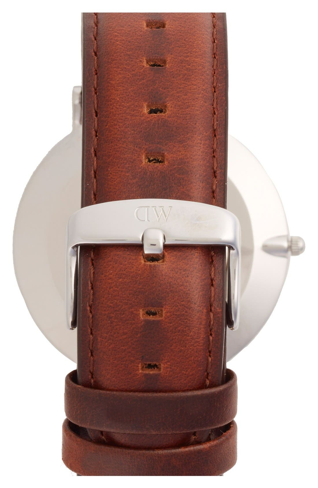 Alternate Image 2  - Daniel Wellington 'Classic St. Mawes' Leather Strap Watch, 40mm