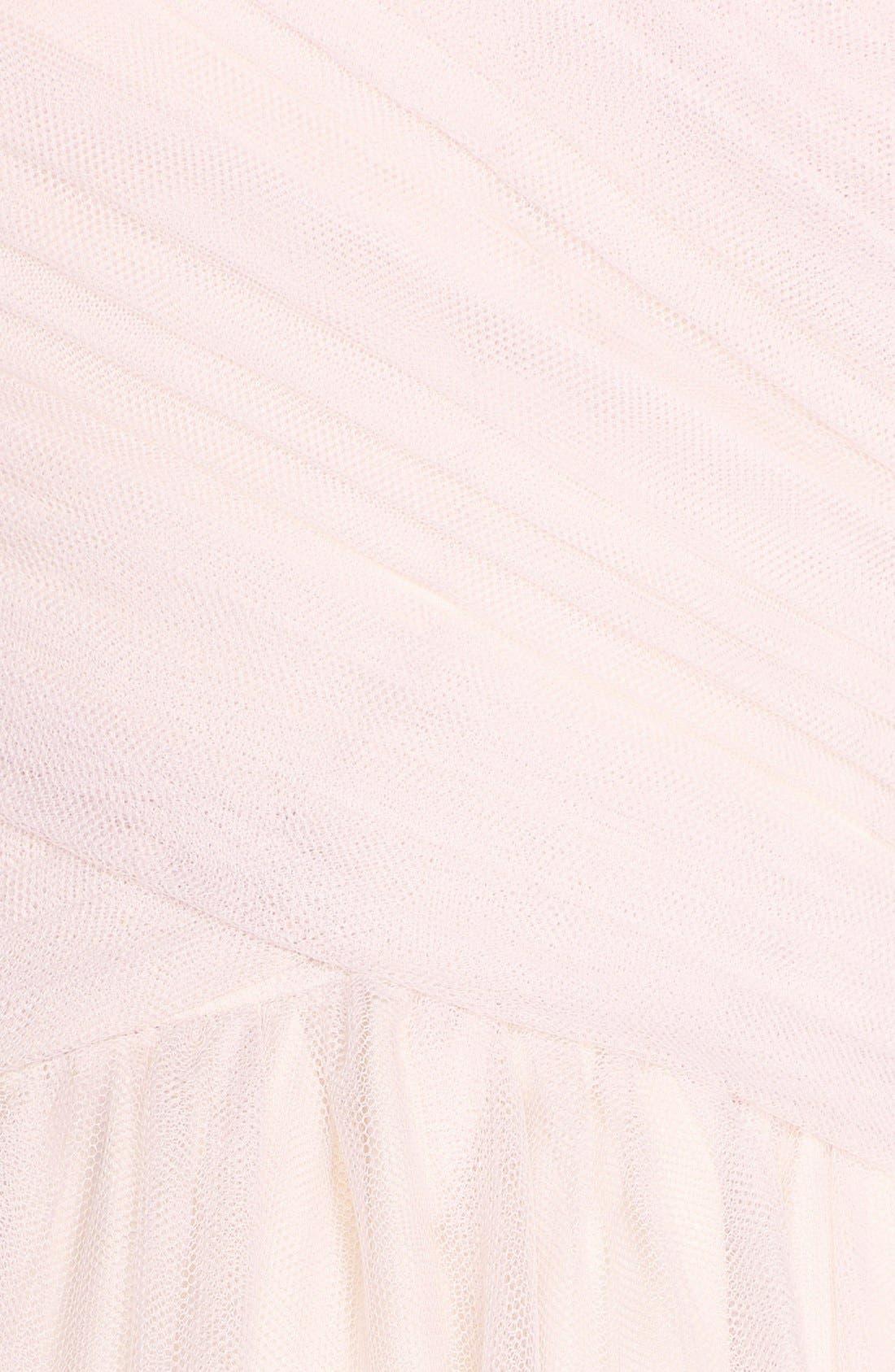 Alternate Image 3  - Monique Lhuillier Bridesmaids Tulle Tea Length Dress
