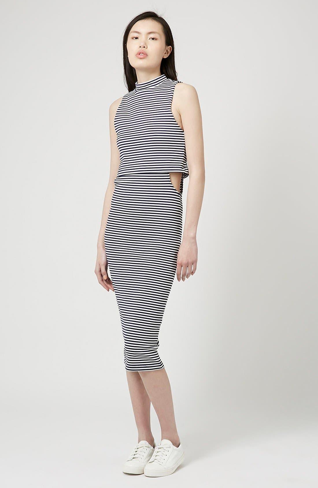 Main Image - Topshop Cutout Midi Dress