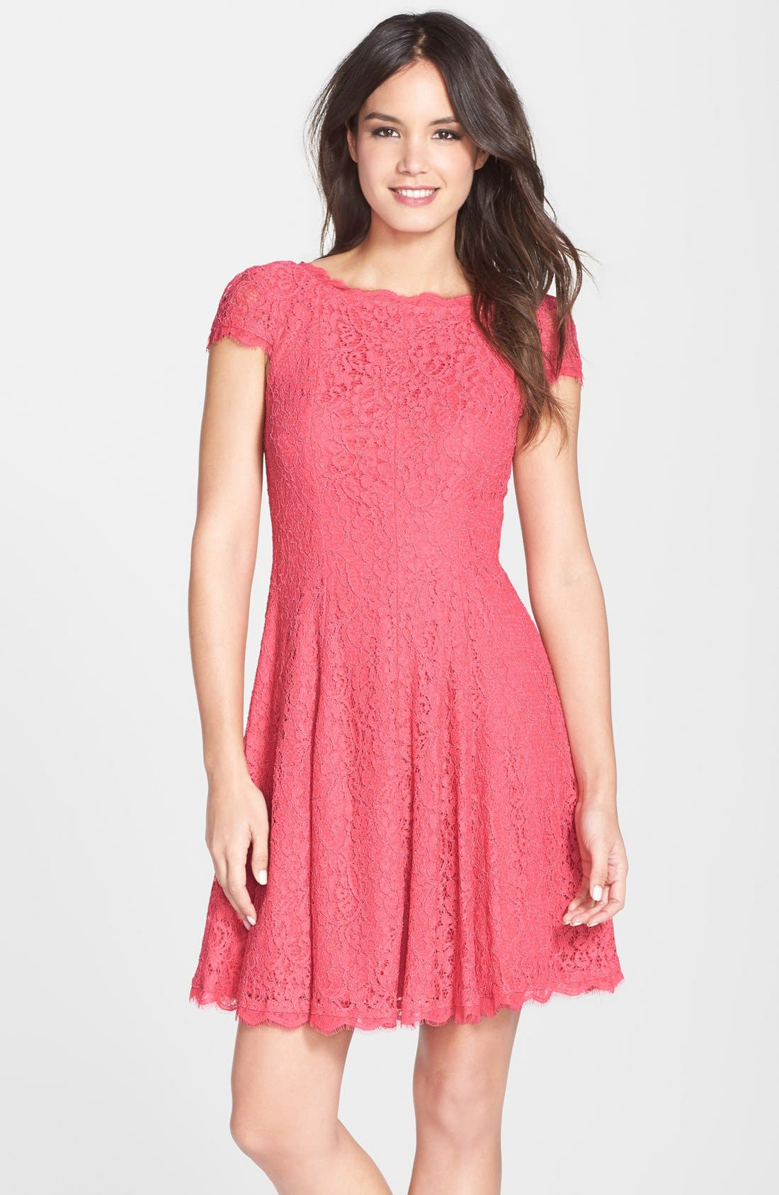 Alternate Image 1 Selected - Adrianna Papell Lace A-Line Dress