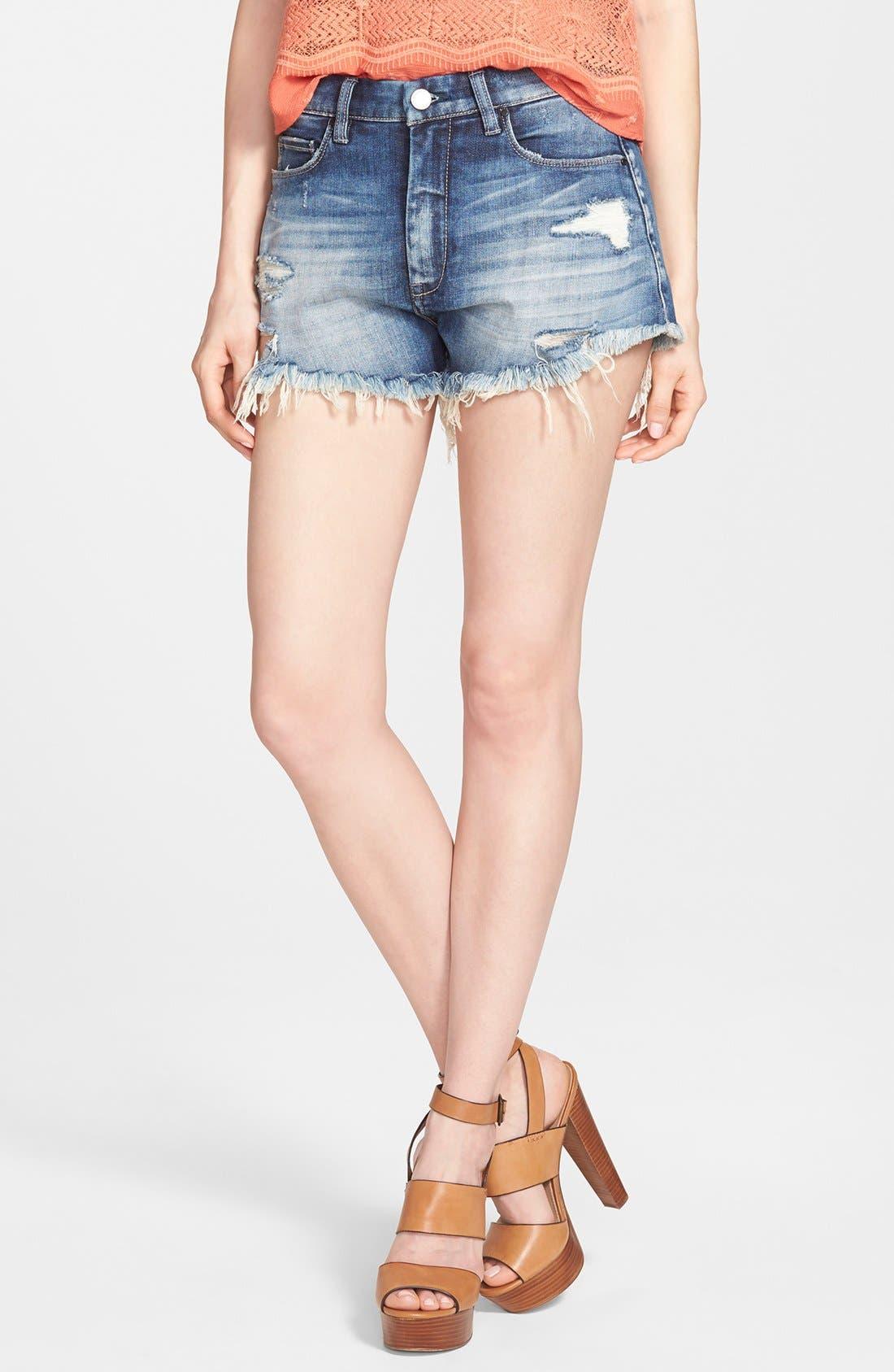 Main Image - BLANKNYC 'Fit of Rage' Denim Shorts (Blue)